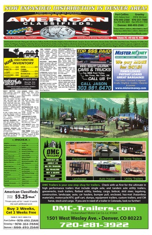 Colorado Front Range American Classifieds By Thrifty Nickel Of ...