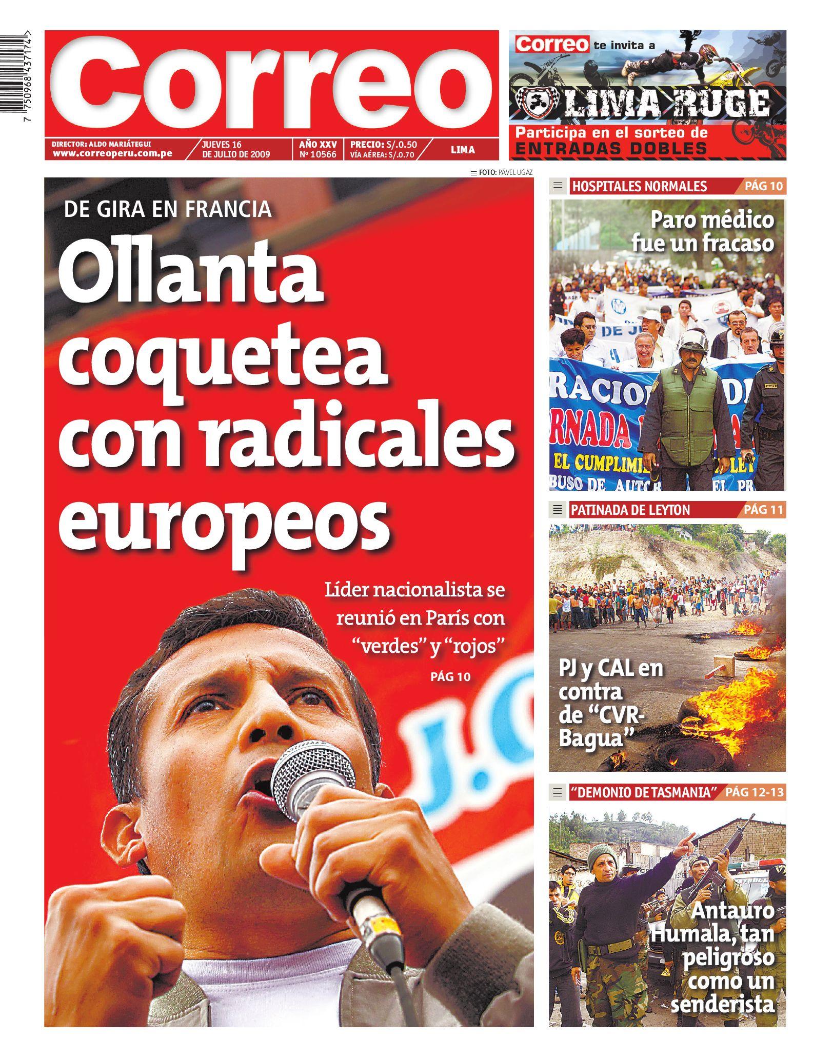 Correo Lima 16 De Julio De 2009 By Empresa Periodistica Nacional  # Muebles Ludena Chimbote