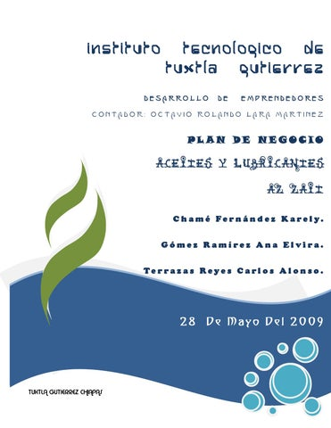 Plan De Negocio Aceites Y Lubricantes Az Zait By Gestiopolis