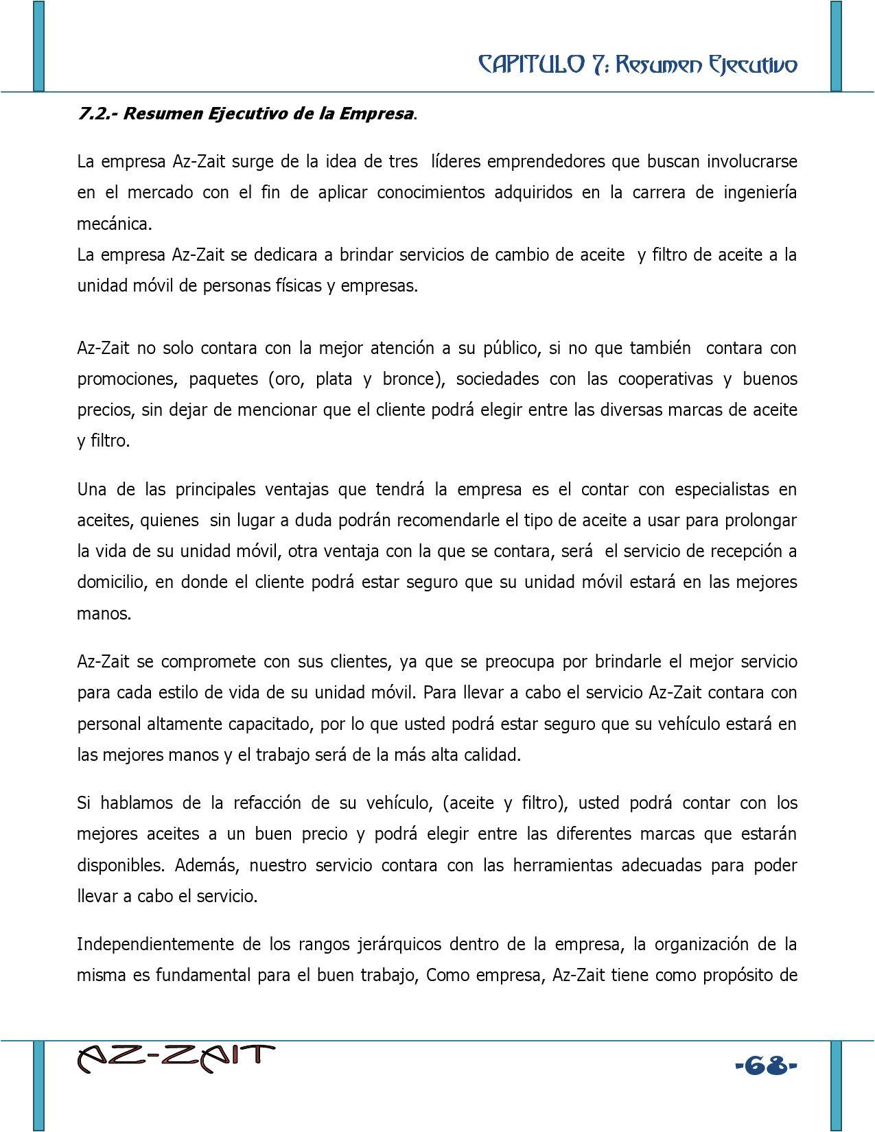 Plan de negocio Aceites Y Lubricantes Az Zait by GestioPolis.com ...