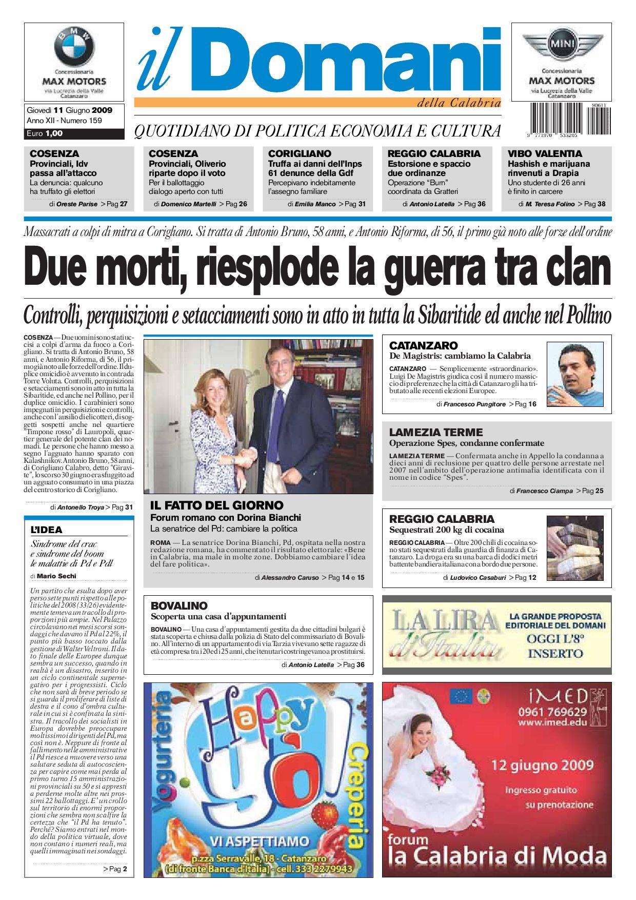 ilDomani by T P Editori il Domani - issuu fd8221f85299