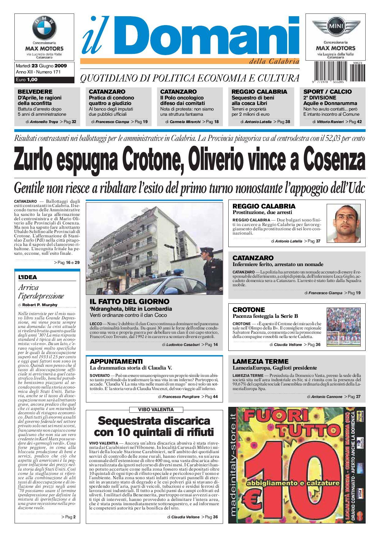 15d7f70dc2 ilDomani by T&P Editori il Domani - issuu