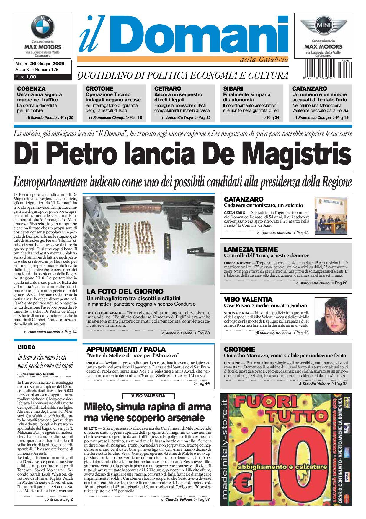 ilDomani by T P Editori il Domani - issuu aa07f9f91f20
