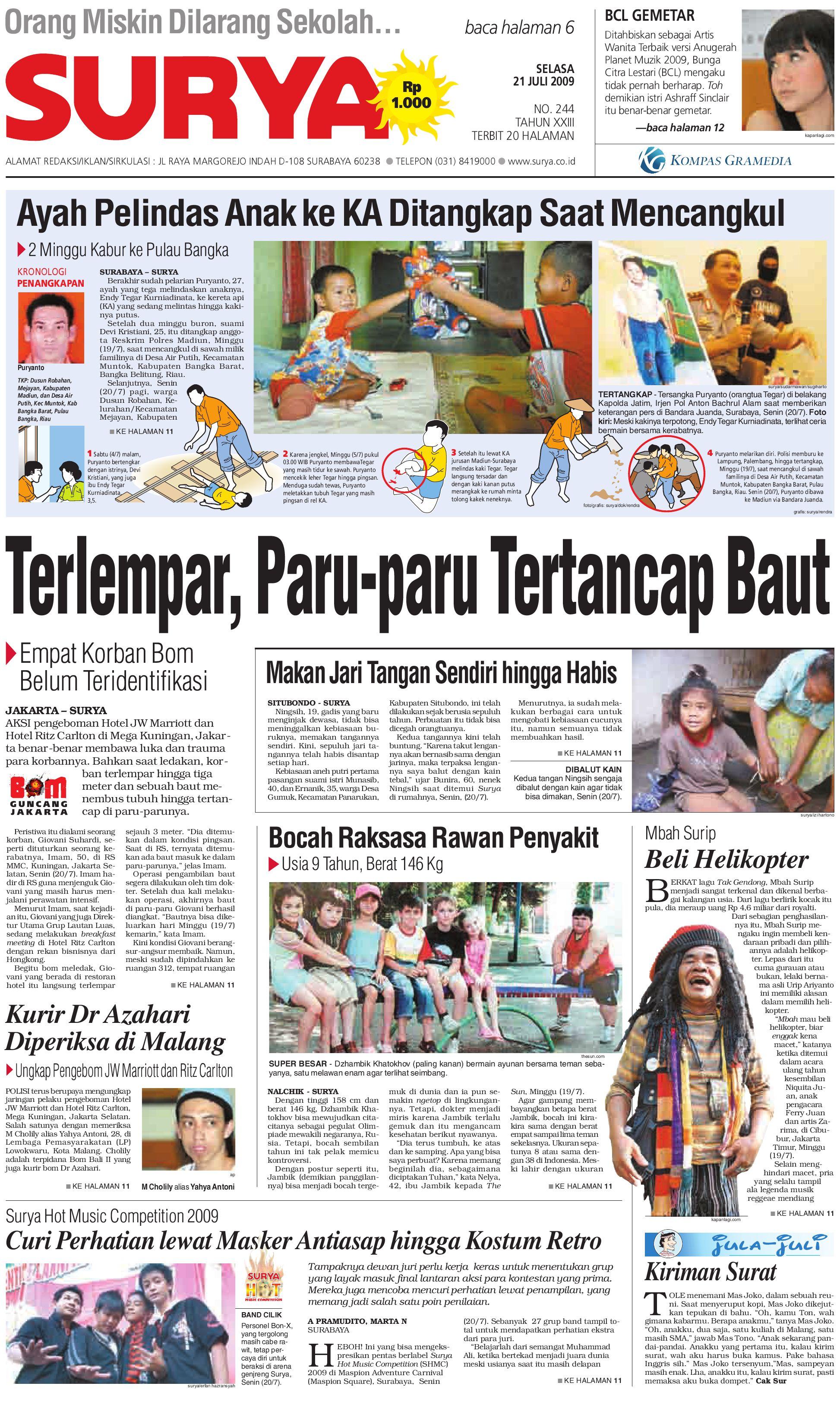 Surya Edisi Cetak 21 Juli 2009 By Harian Issuu Bra Set Wanita Sexy Transparan Metalik 8302