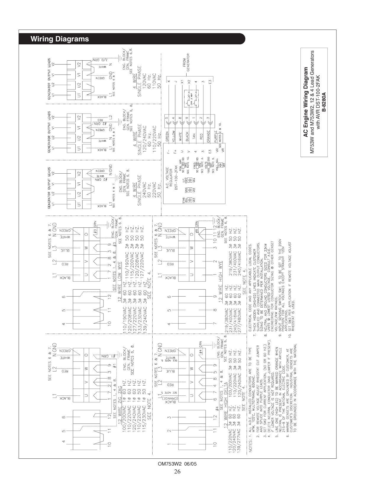 3 phase generator wiring diagram 9 lead 240v single phase