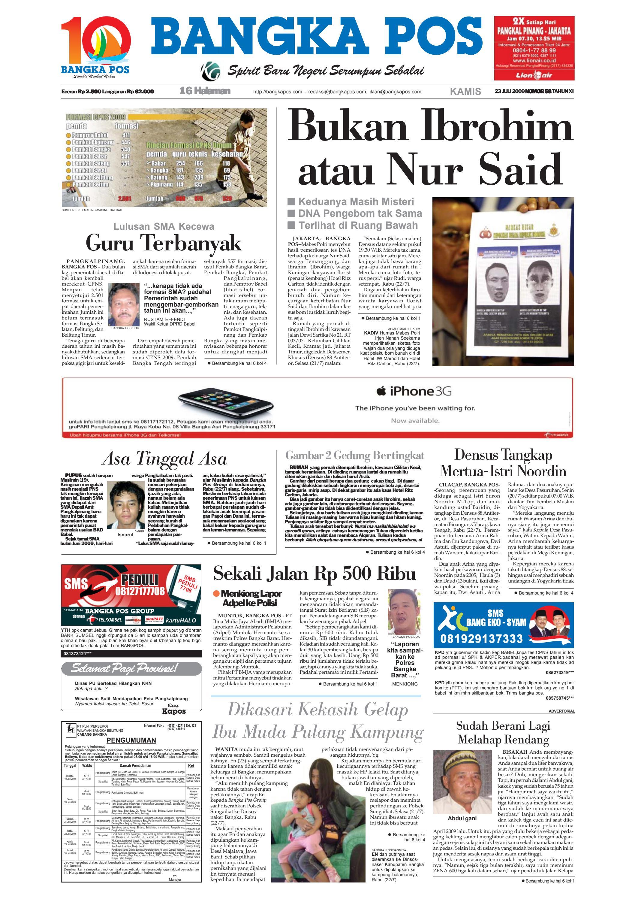 Harian Pagi Bangka Pos Edisi 23 Juli 2009 By Issuu Tcash Kartini Steam Wallet Sea 10