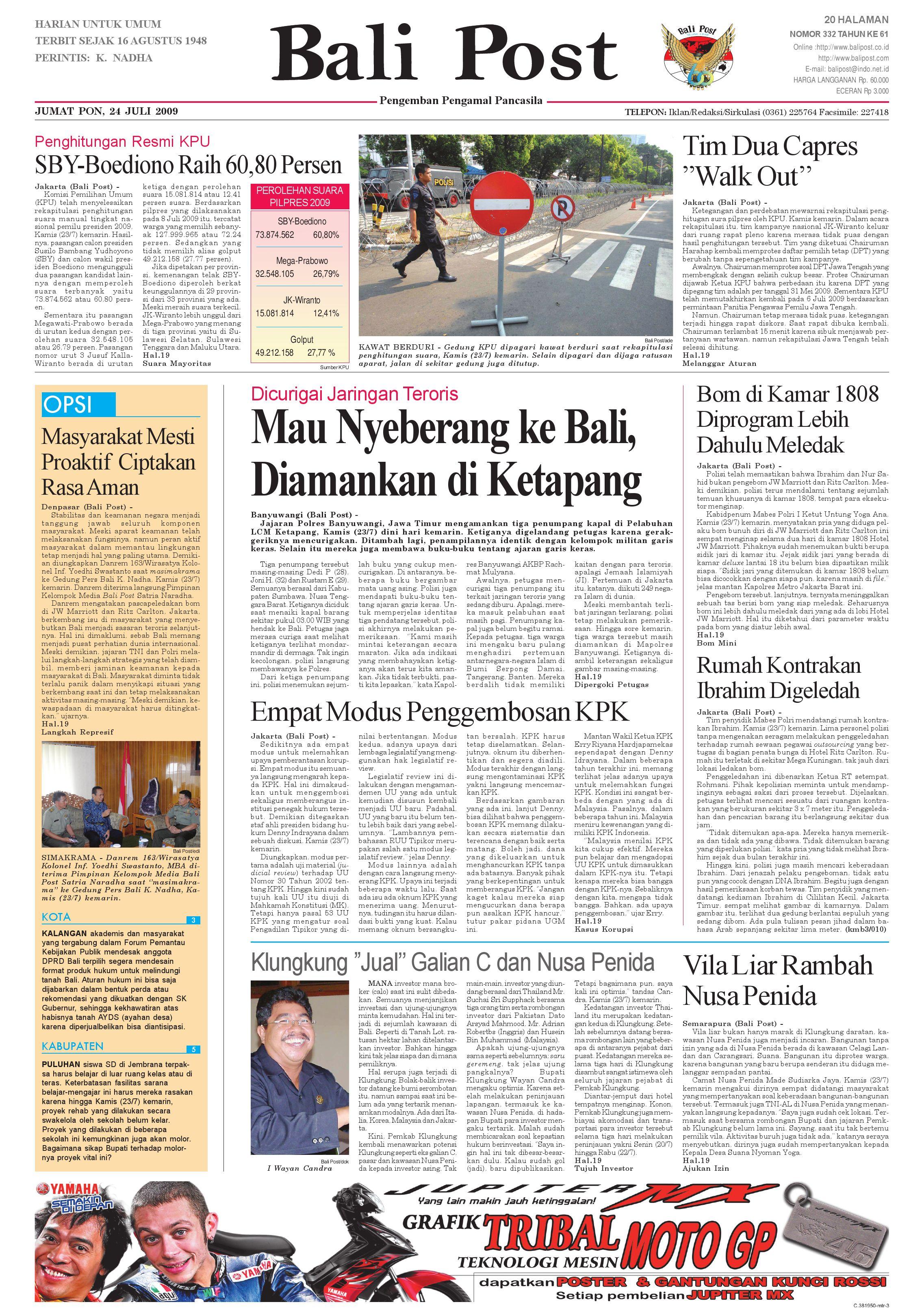 Bali Post Jumat 24 July 2009 By E Paper Kmb Issuu Keripik Tahu Alip Bintang Terang Pgp