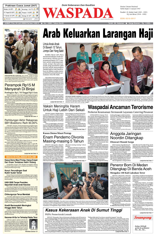 Waspada Daily By Harian Issuu Warior Lc Pendek All Black Sekolah Prsmuka Kerja Santai Main Anak Dewasa
