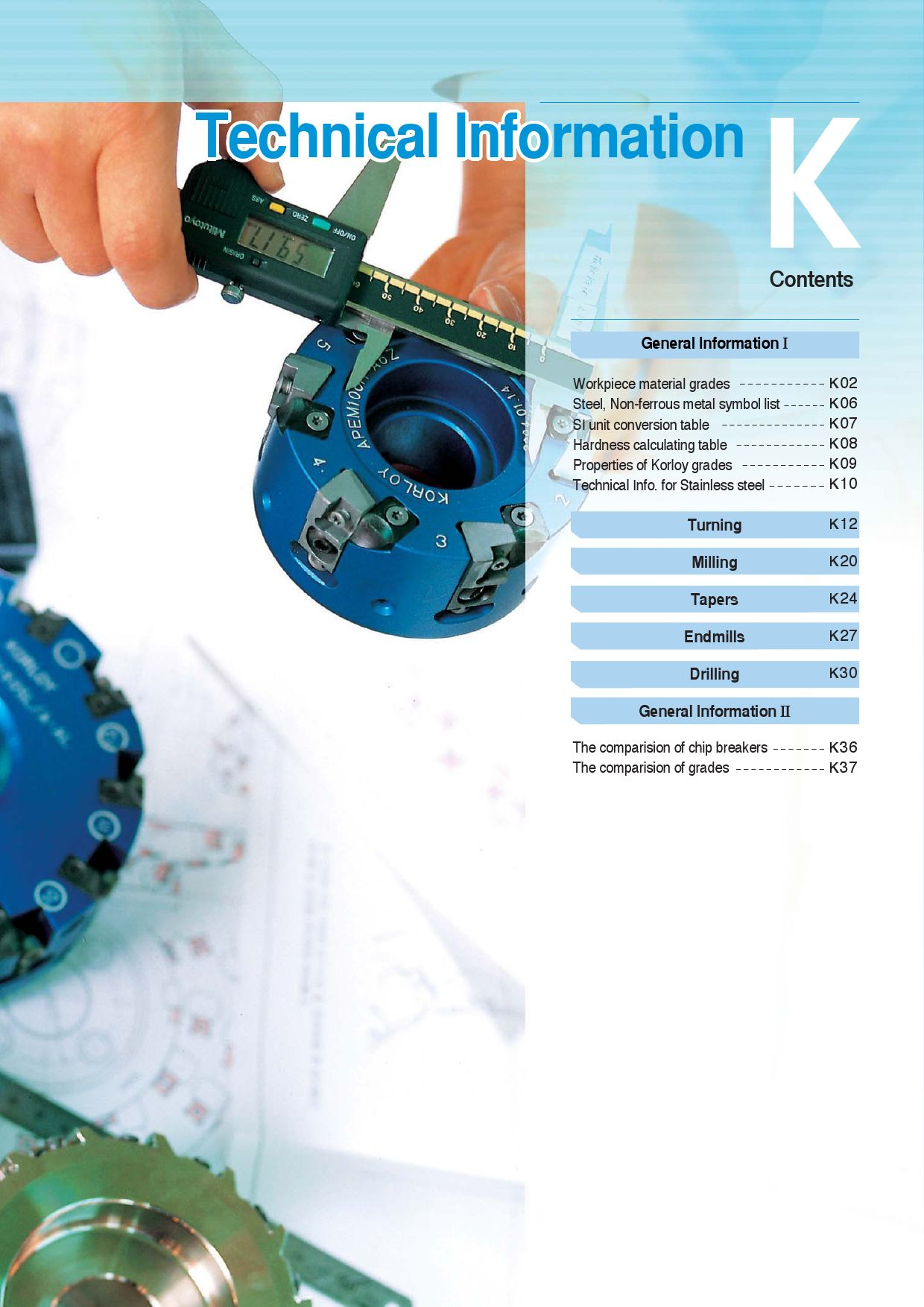 2008 Korloy Metric Catalogue - Technical Information by RBJ