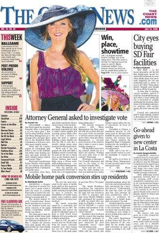The Coast News July 24 2009 By Coast News Group Issuu
