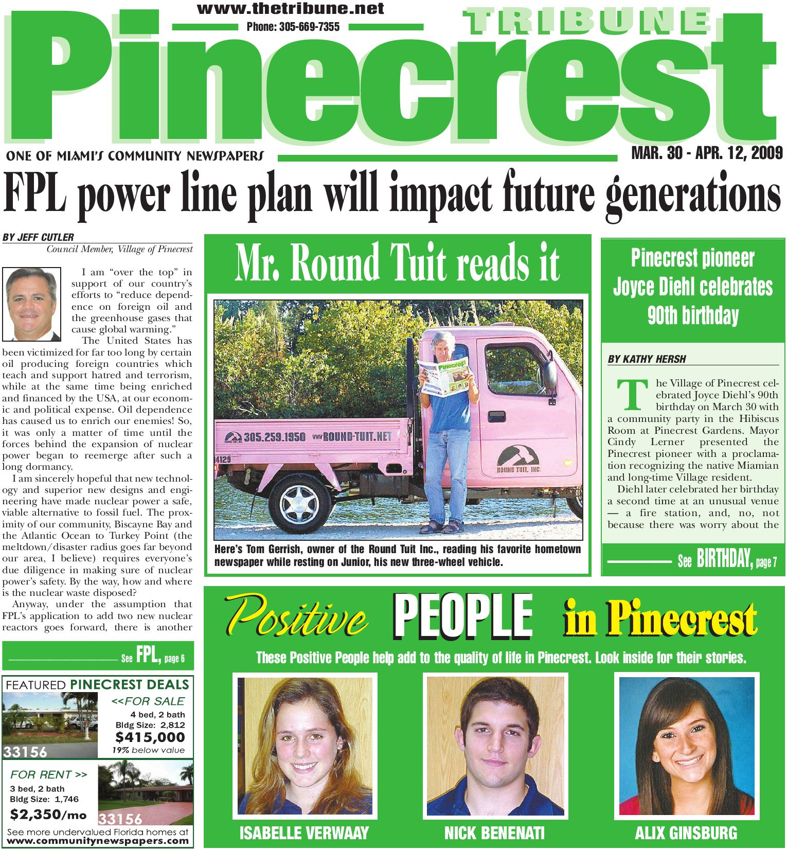 Pinecrest Tribune, March 30, 2009 Edition - Local, Events