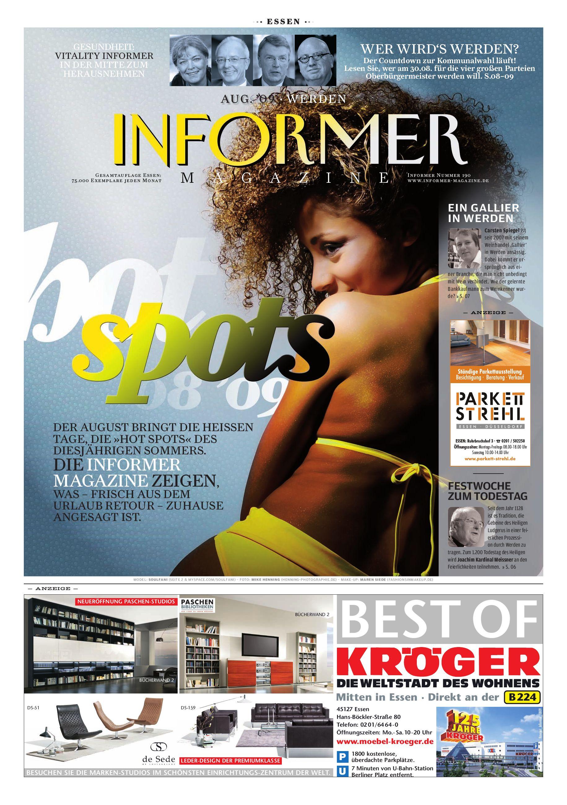Informer Magazine Essen Aug 09 By Presse Verlag Ruhr Gmbh Issuu