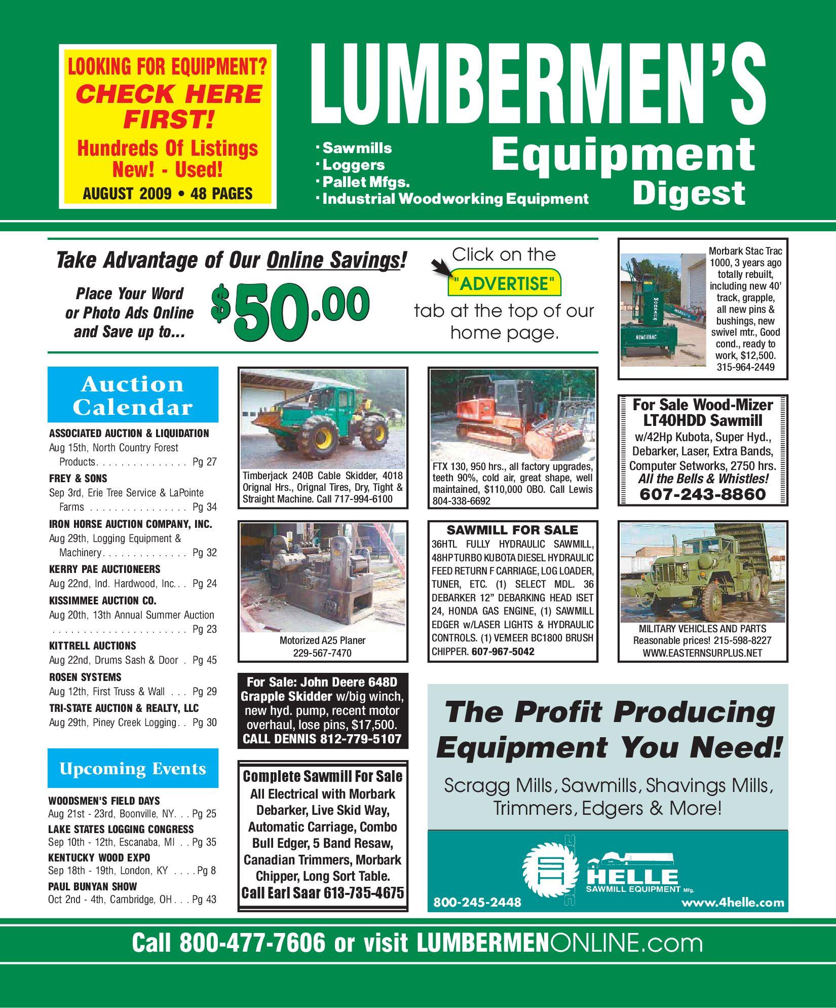 August 2009 / LUMBERMEN'S Equipment Digest by LUMBERMEN'S Equipment