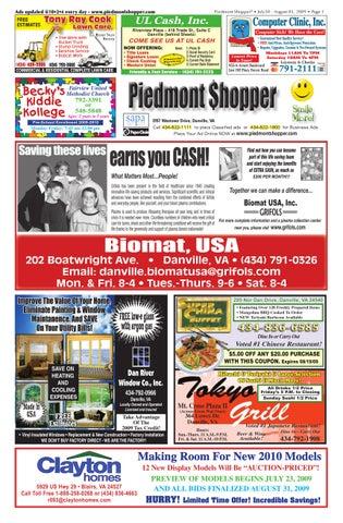 lowest price c5e35 5cad0 piedmont shopper 7.30.09 by ALAN LINGERFELT - issuu