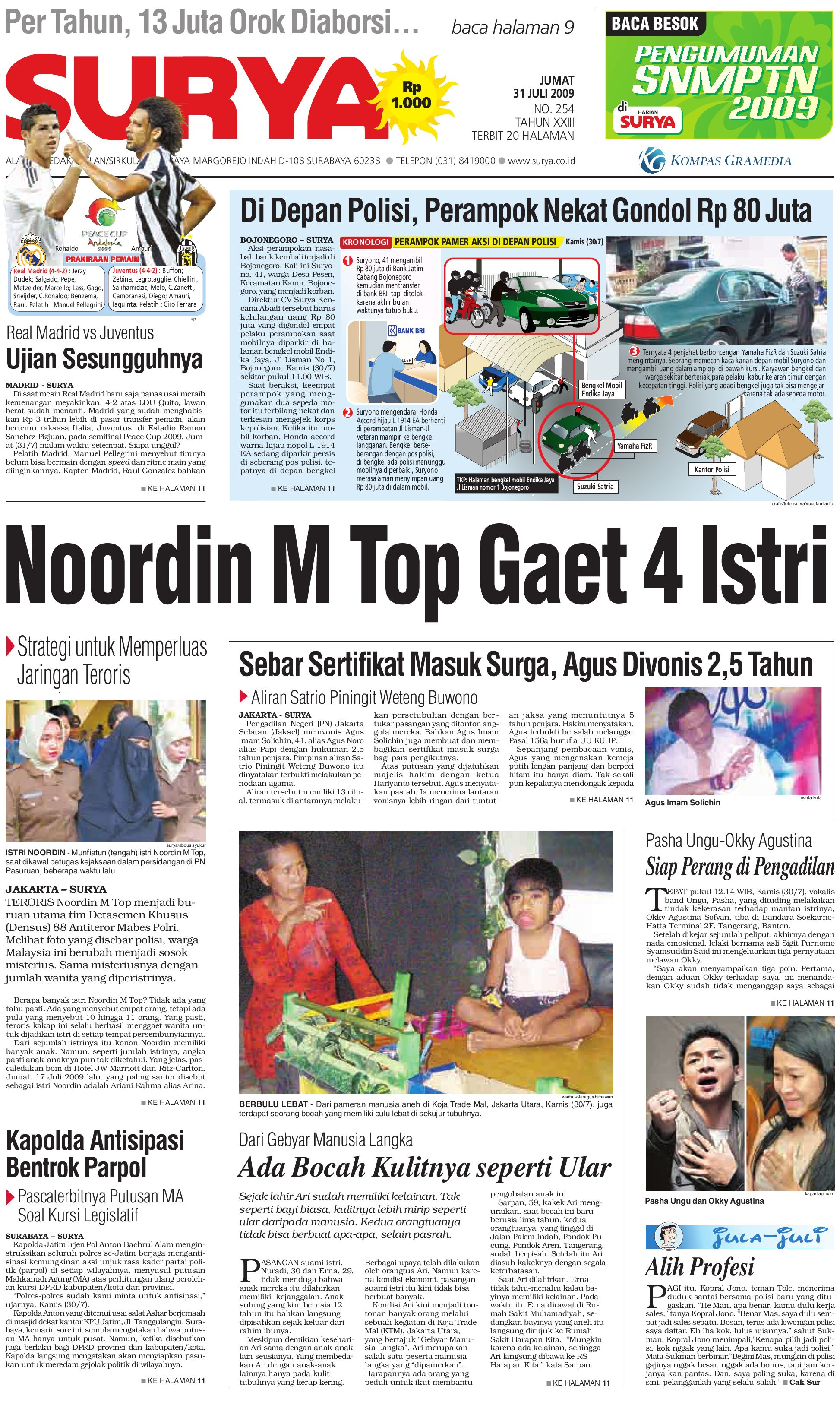 Surya Edisi Cetak 31 Juli 2009 by Harian SURYA - issuu c72d49a10c
