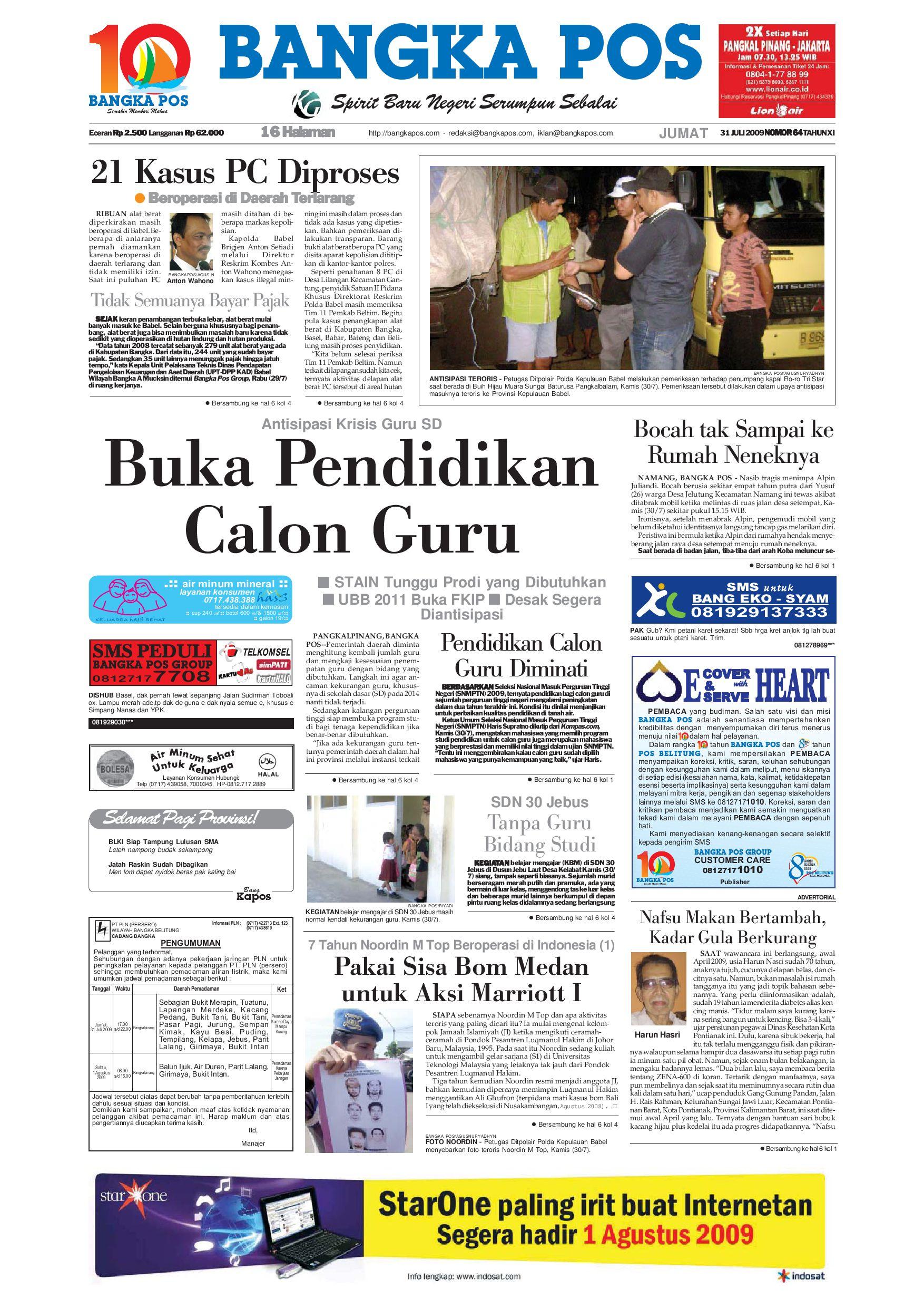 harian pagi bangka pos edisi 31 juli 2009 by bangka pos issuu240 Barisan Kasir Minimarket Ini Bisa Bikin Kamu Betah Belanja Di Minimarket Guys #8