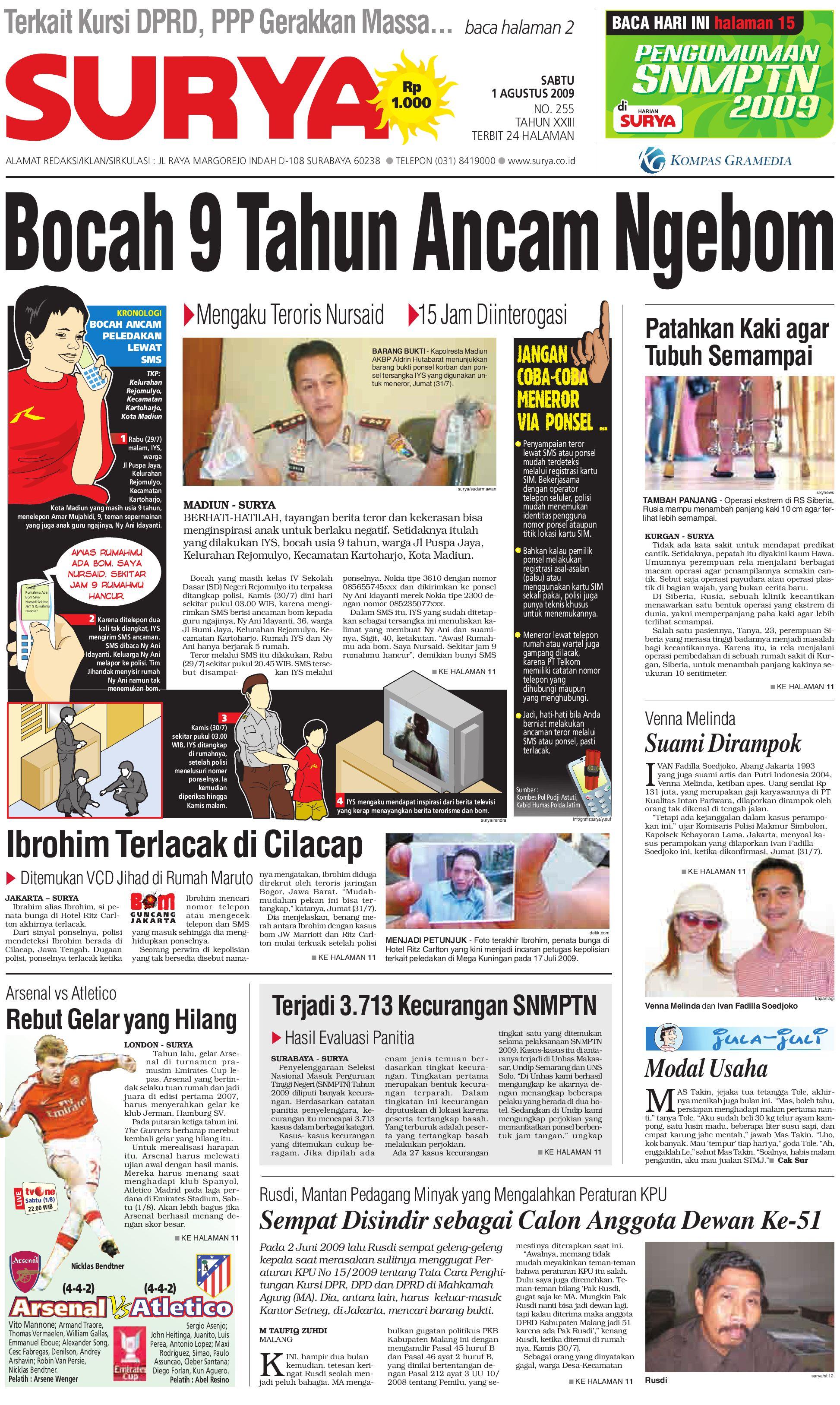 Andria Zammi surya edisi cetak 1 juli 2009harian surya - issuu