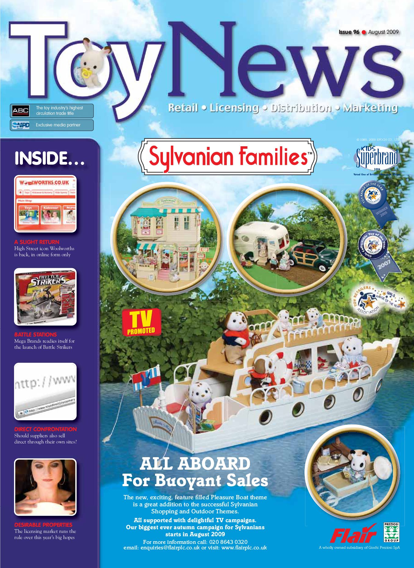 Toynews Issue 96 August 2009 By Intent Media Now Newbay Sylvanian Families Bott Ant 9 Europe Issuu