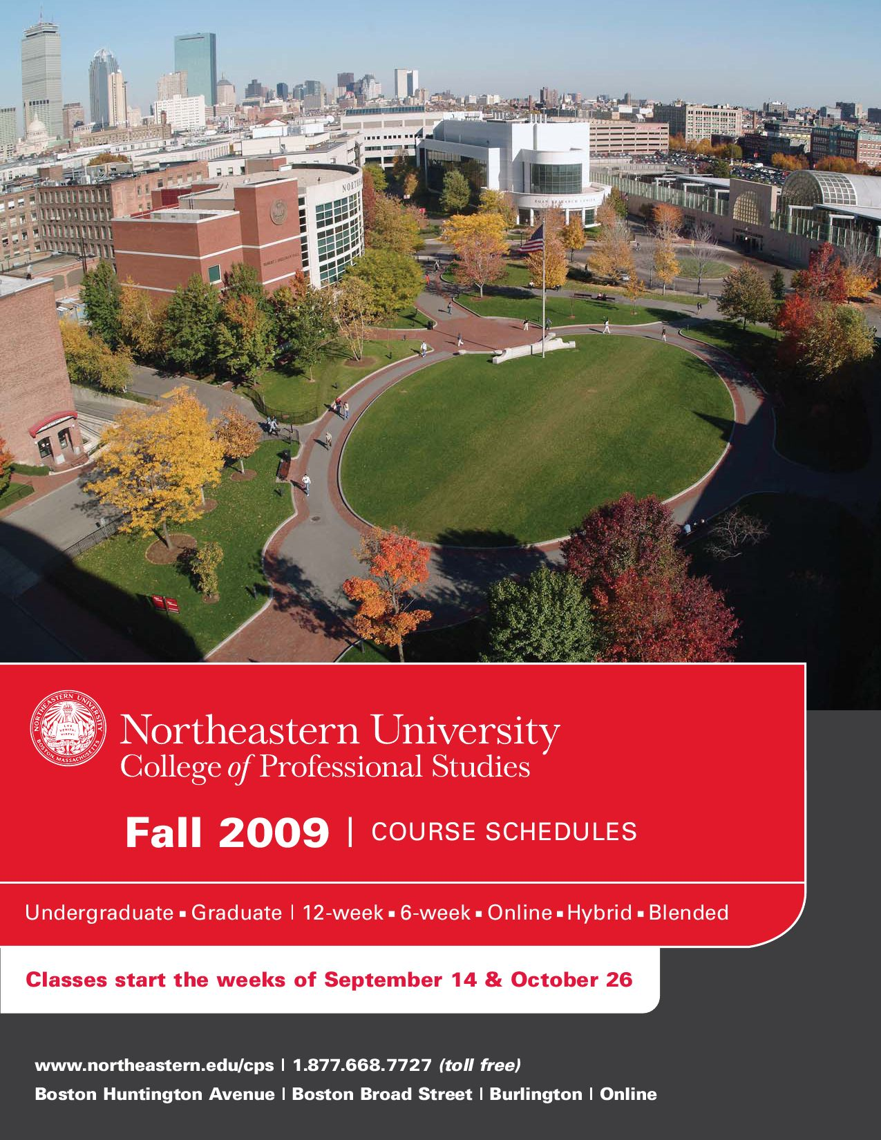 2009-2010 Fall Schedule by College of Professional Studies