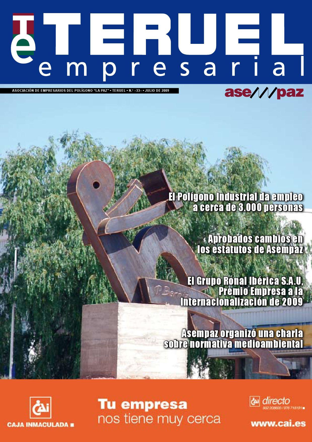 Teruel Empresarial N 33 By Asempaz Asoc De Empresarios Del  # Muebles Jover Teruel