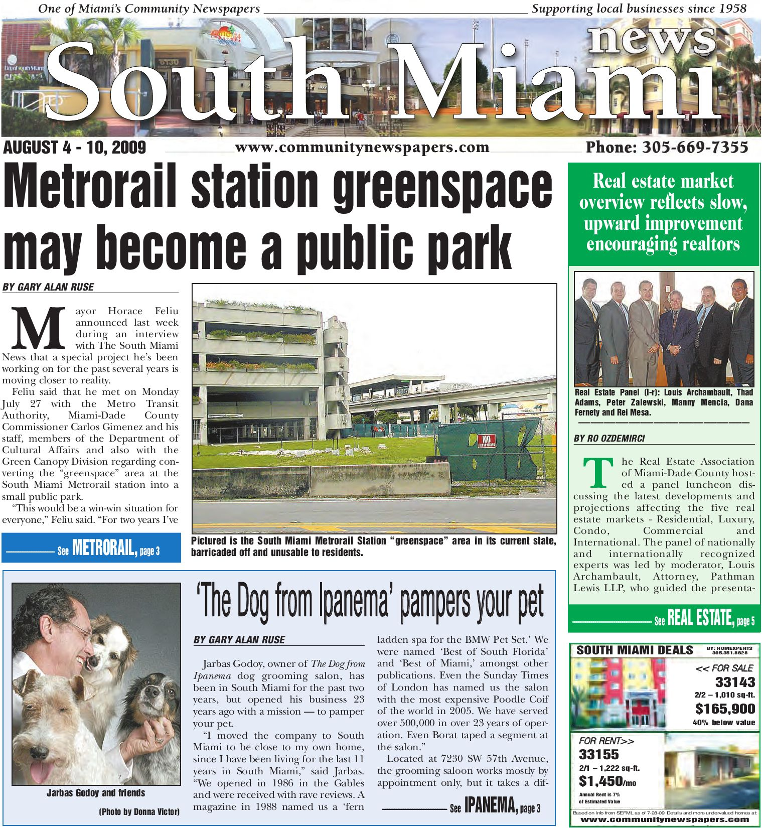 South Miami News, August 4, 2009 Edition - Local & Community