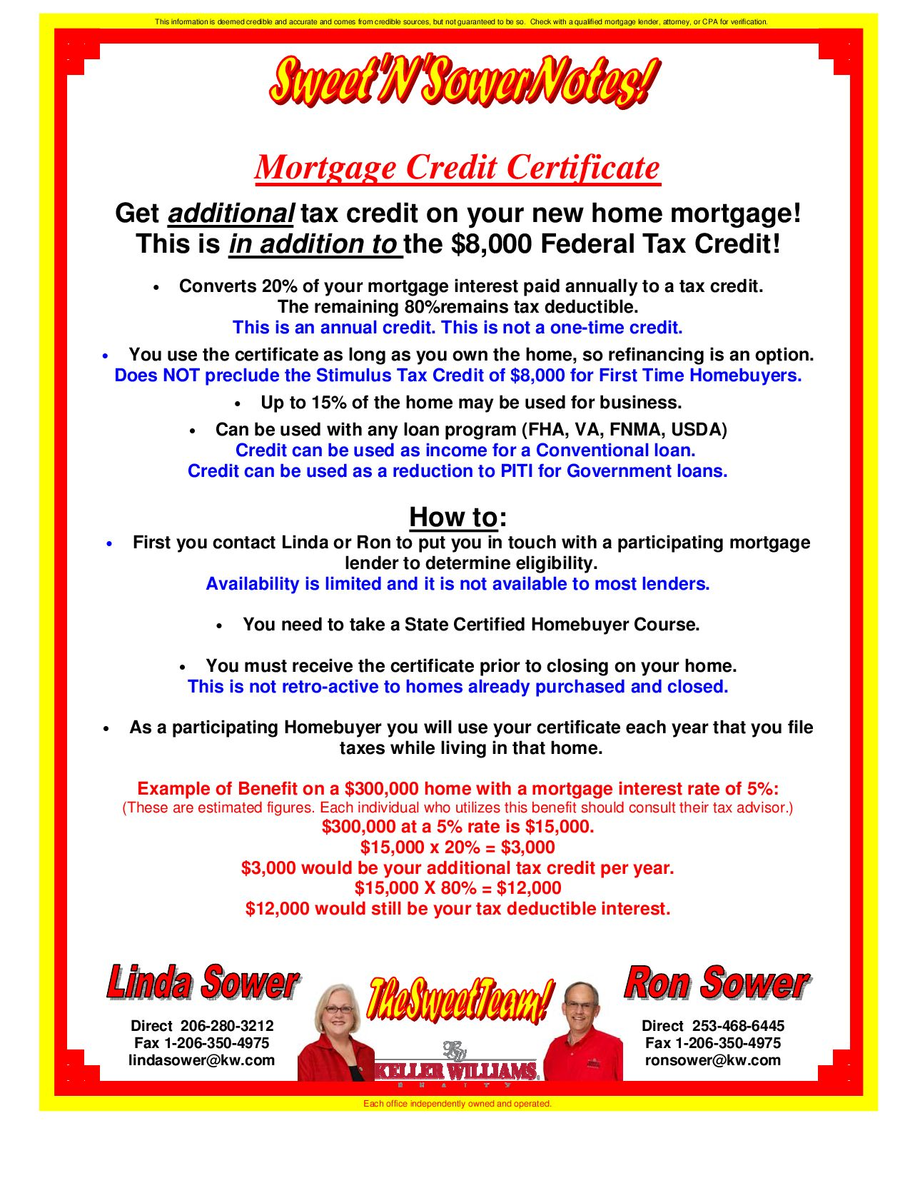 Washington Mortgage Credit Certificate By Ron Sower Issuu