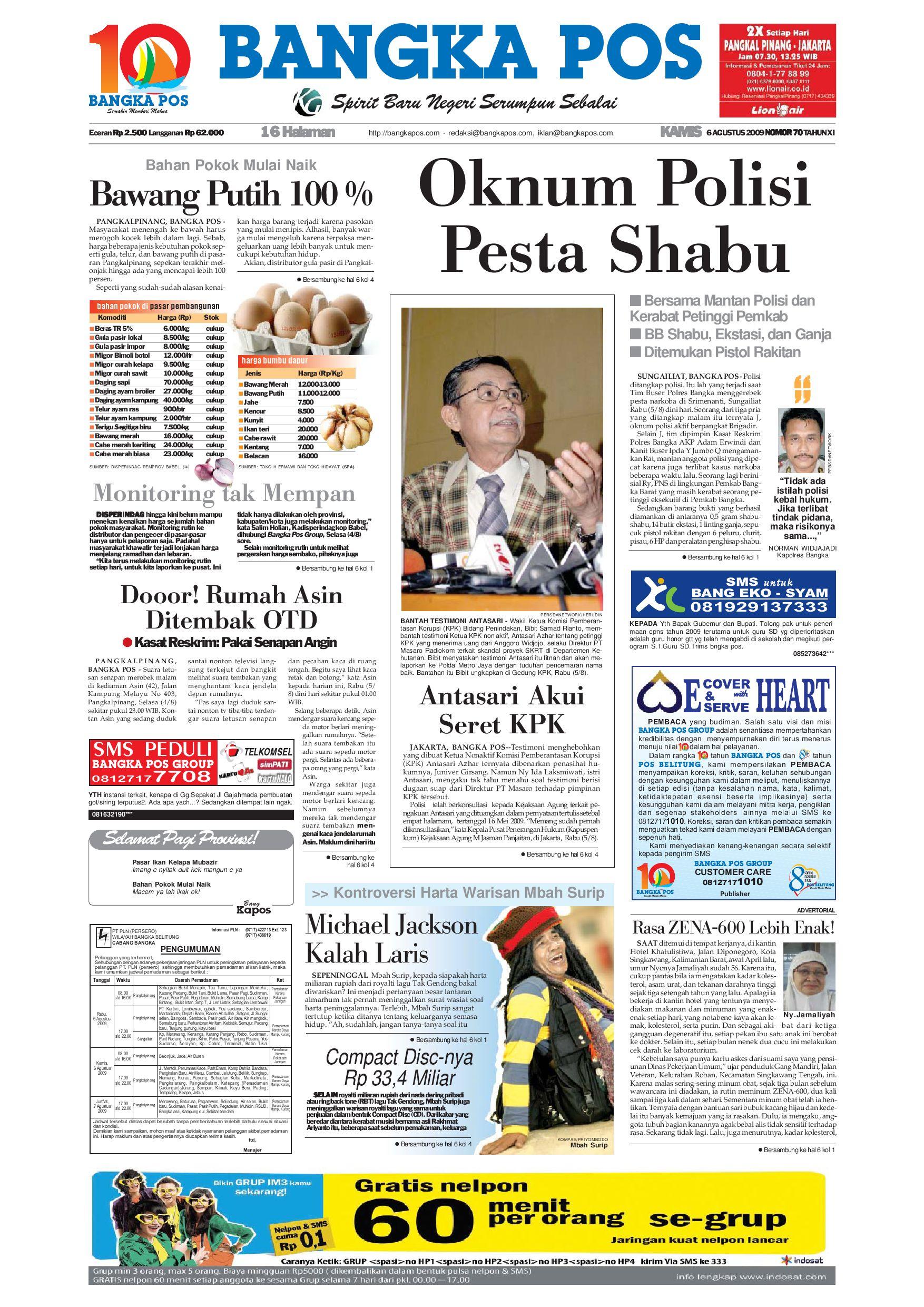Harian Pagi Bangka Pos Edisi 06 Agustus 2009 By Issuu Masker Organik 30 Varian Kiloan Cocok Untuk Di Kembali Pakai Merk Sendiri