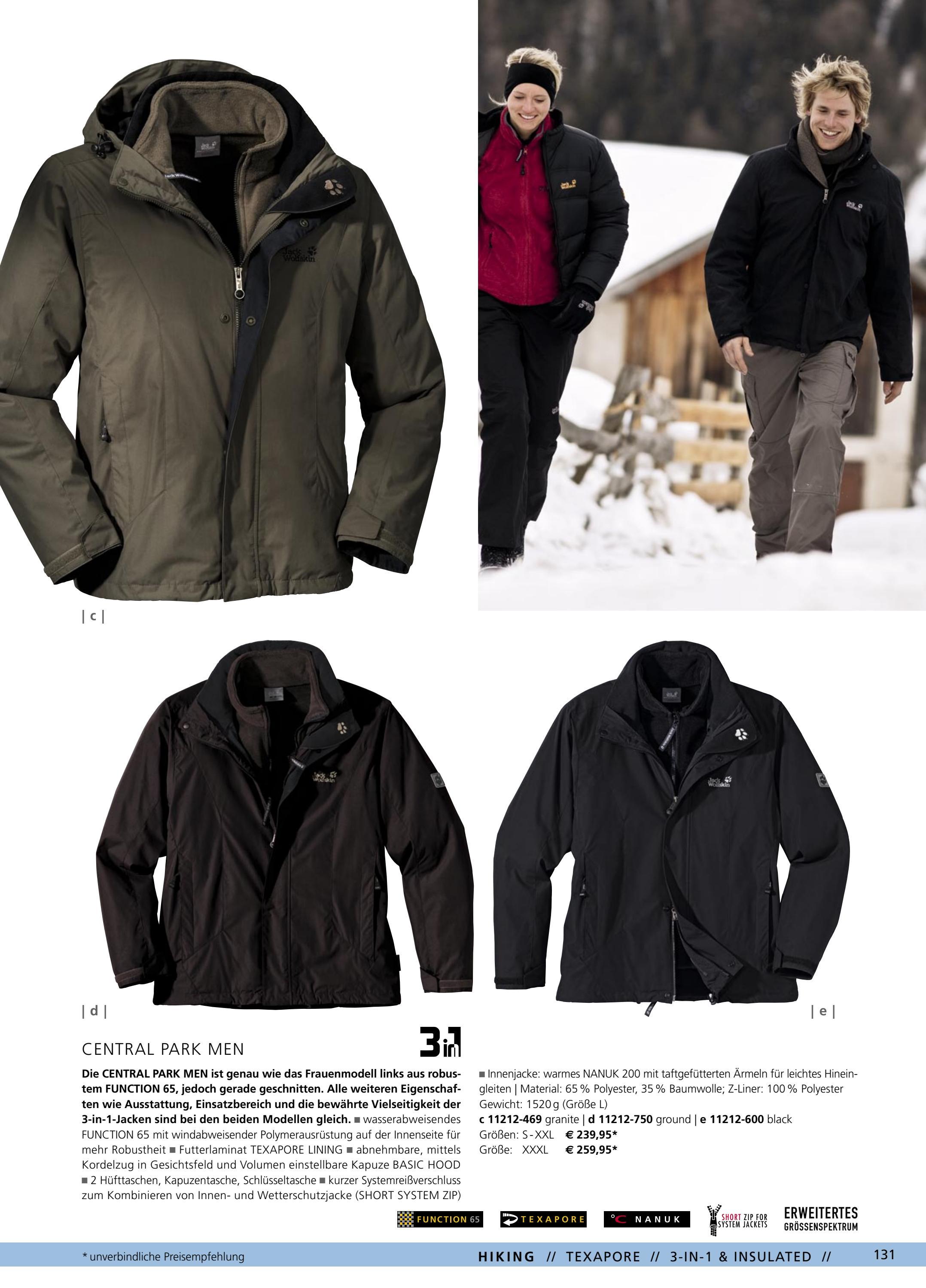 Jack Wolfskin Winter Jacke 3 in 1 Größe 3xl