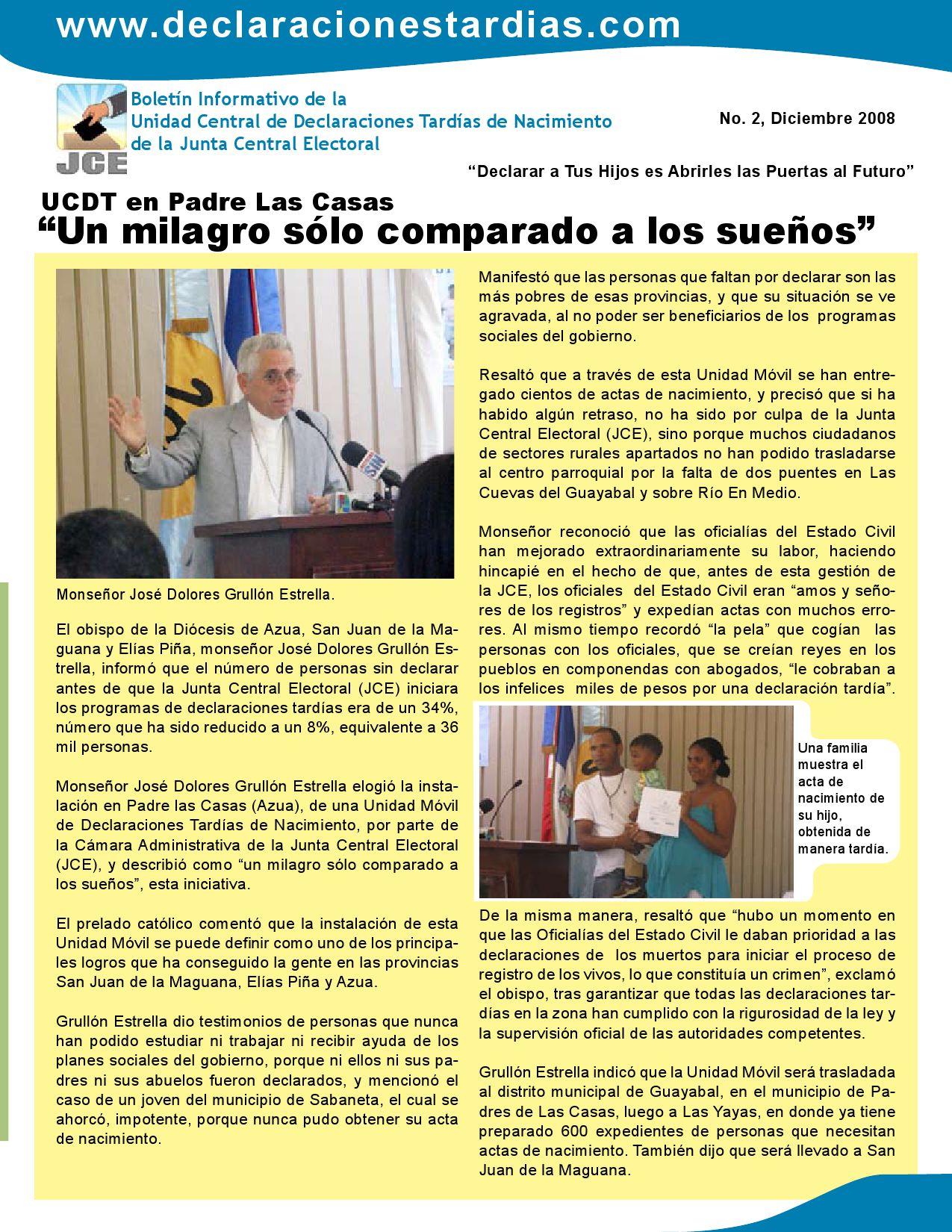 BOLETIN_2_DECLARACIONES_TARDIAS by Junta Central Electoral (JCE) - issuu
