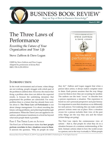 the three laws of performance pdf