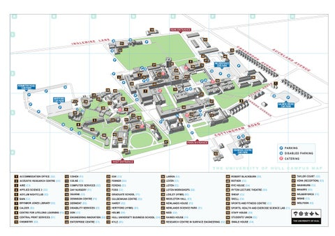 Hull University Campus Map Hull Campus map 2009 by The University of Hull   issuu Hull University Campus Map