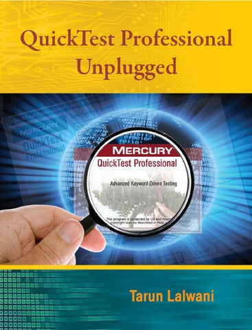 QuickTest Professional Unplugged by Kerry Giddarie - issuu