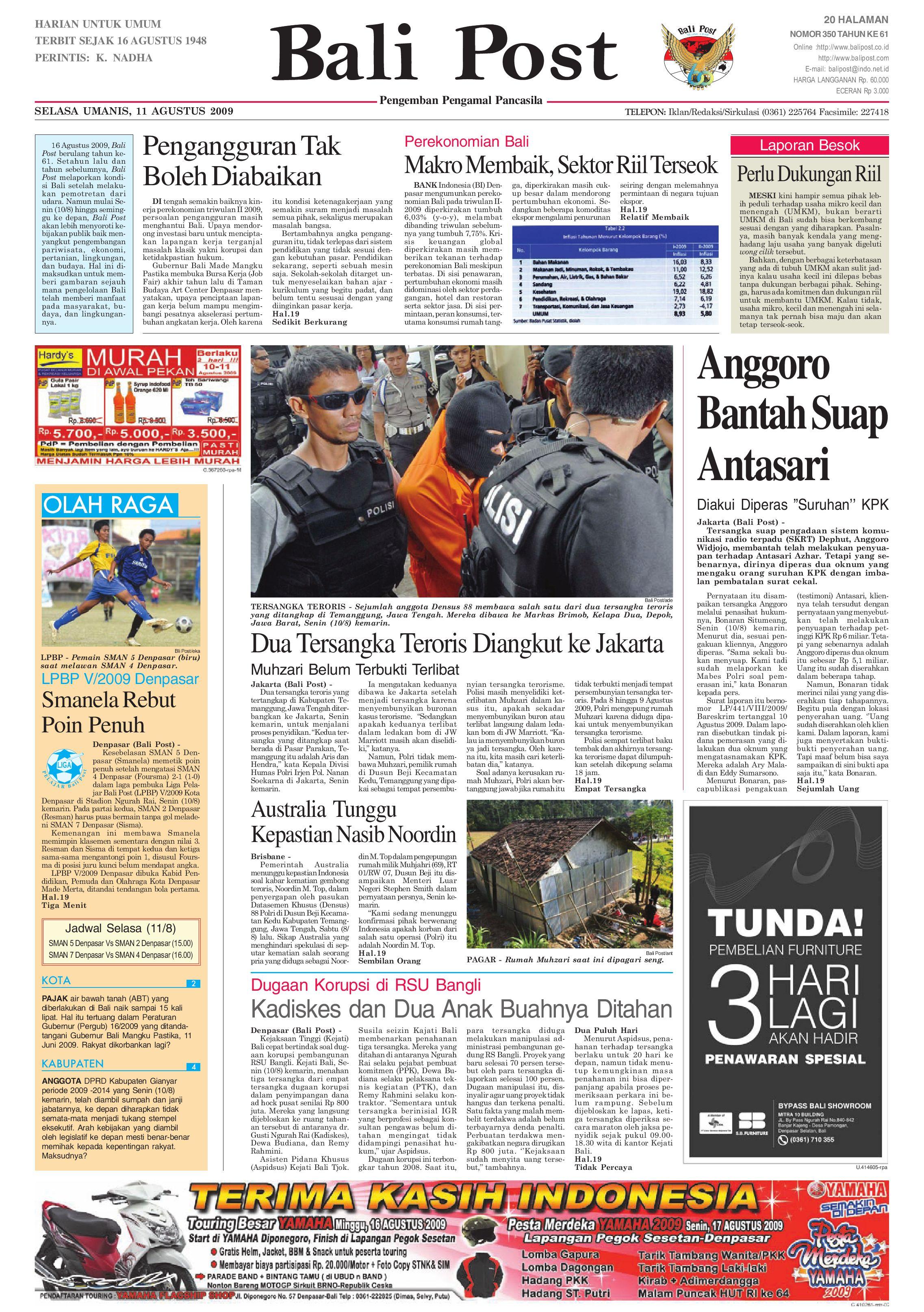 Bali Post Selasa 11 Agustus 2009 By E Paper Kmb Issuu Kebab Pisang Coklat Champlo Sf