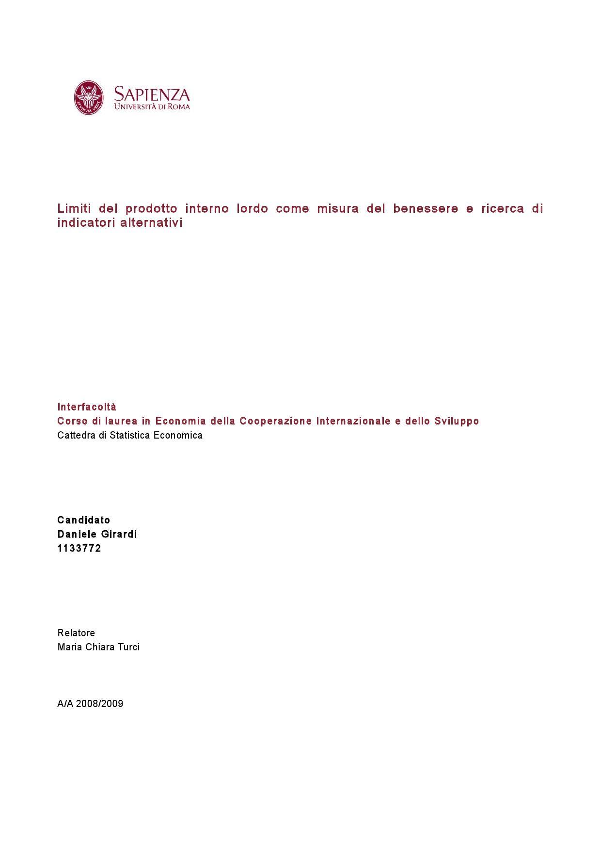 Limiti Del Prodotto Interno Lordo Come Misura Del Benessere E Ricerca Di Indicatori Alternativi By Aniello De Padova Issuu