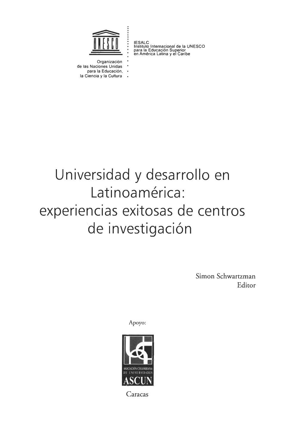 universidad y desarrollo by Instituto Internacional para la ...