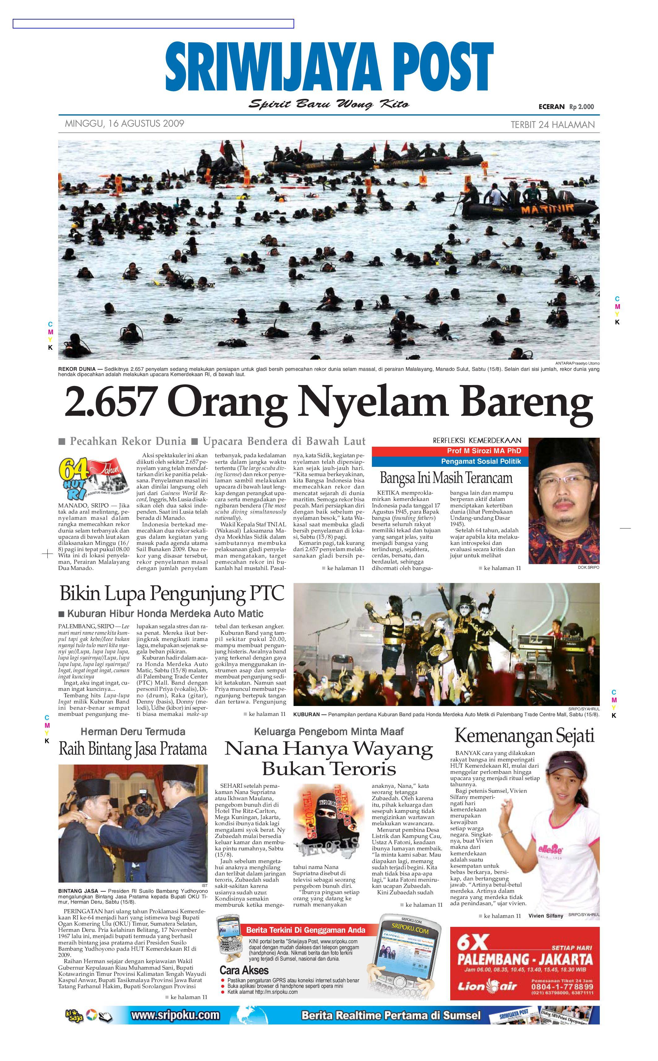 Sriwijaya Post Edisi Minggu 16 Agustus 2009 By Yulius Saputra Issuu Rejeki Anak Soleh 3 Voucher Carrefour Rp 200000