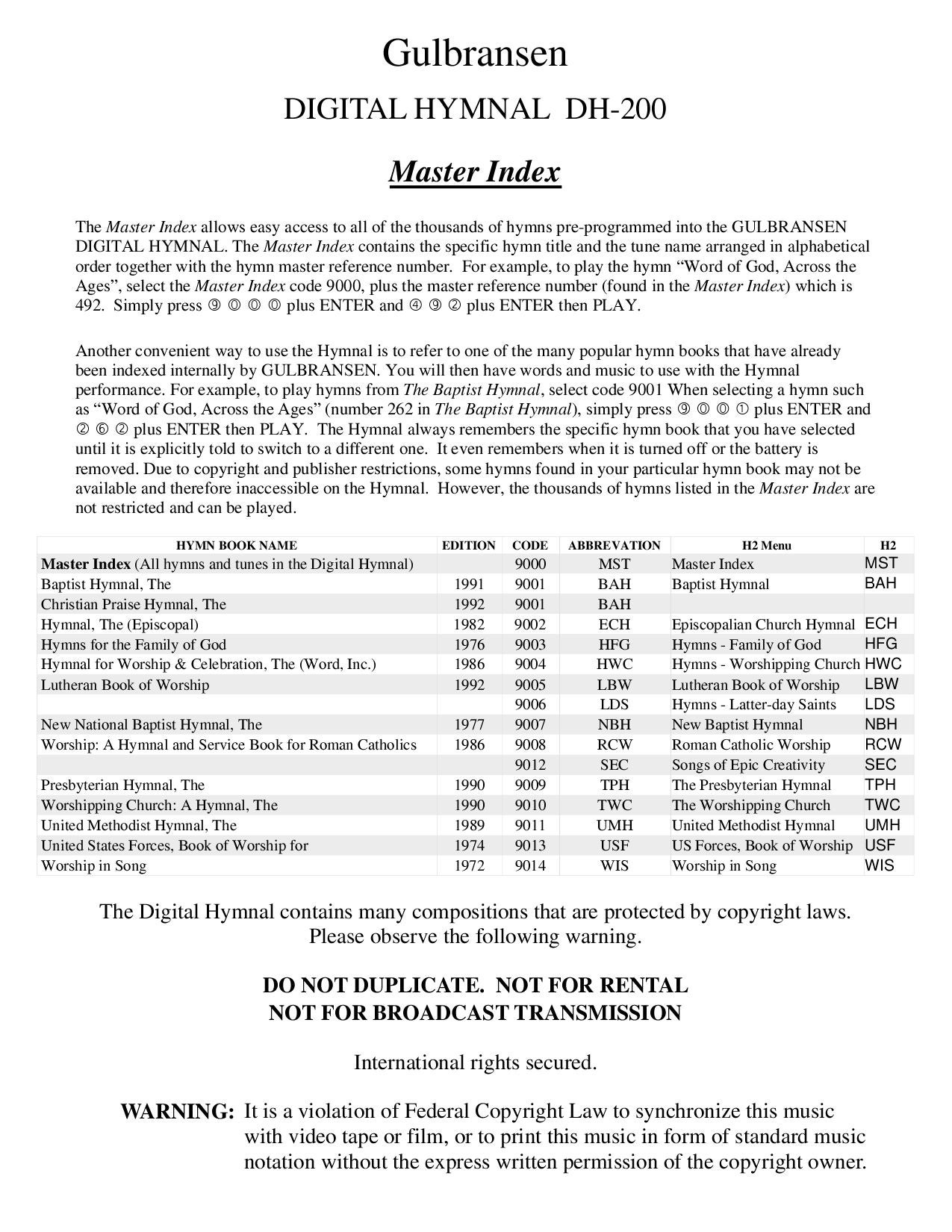 DH200 Master Index by Thomas Moulin - issuu