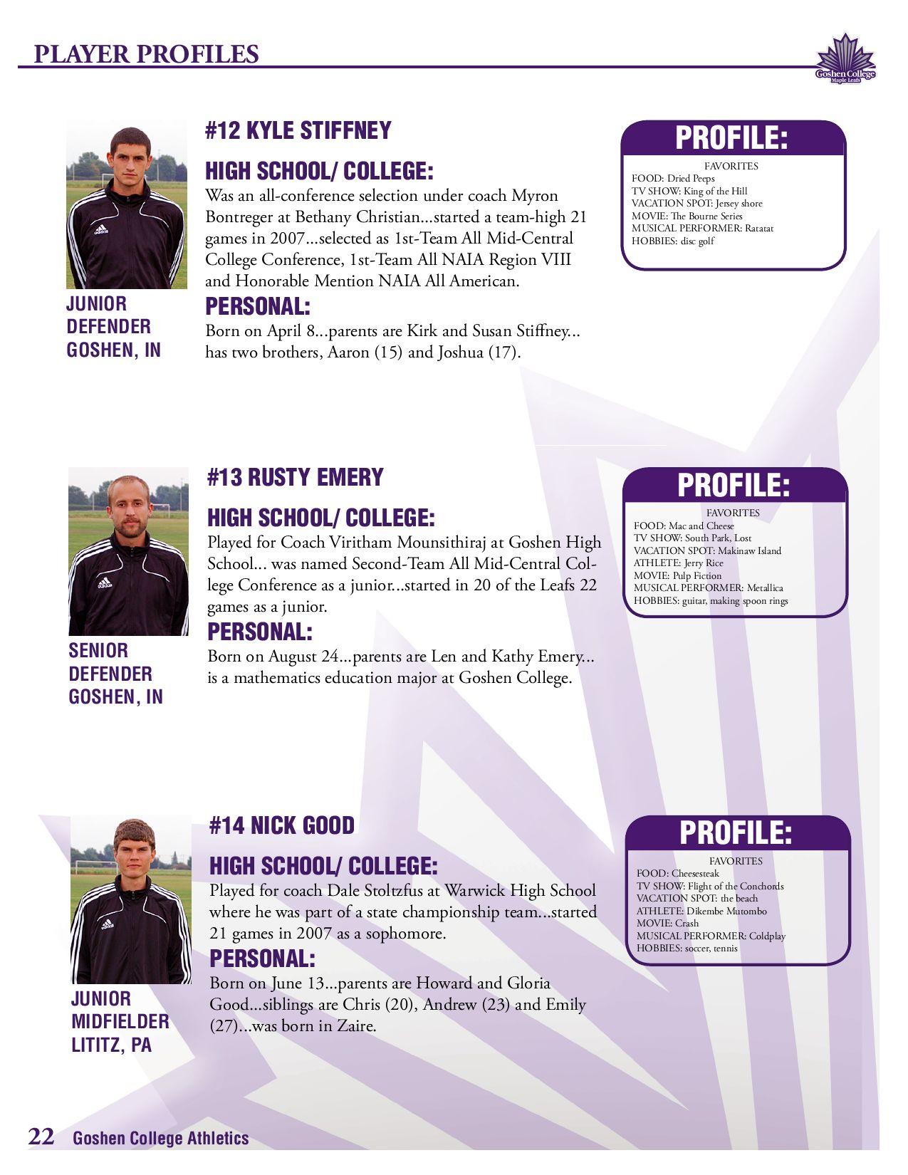 2008 Goshen College Men's Soccer Media Guide