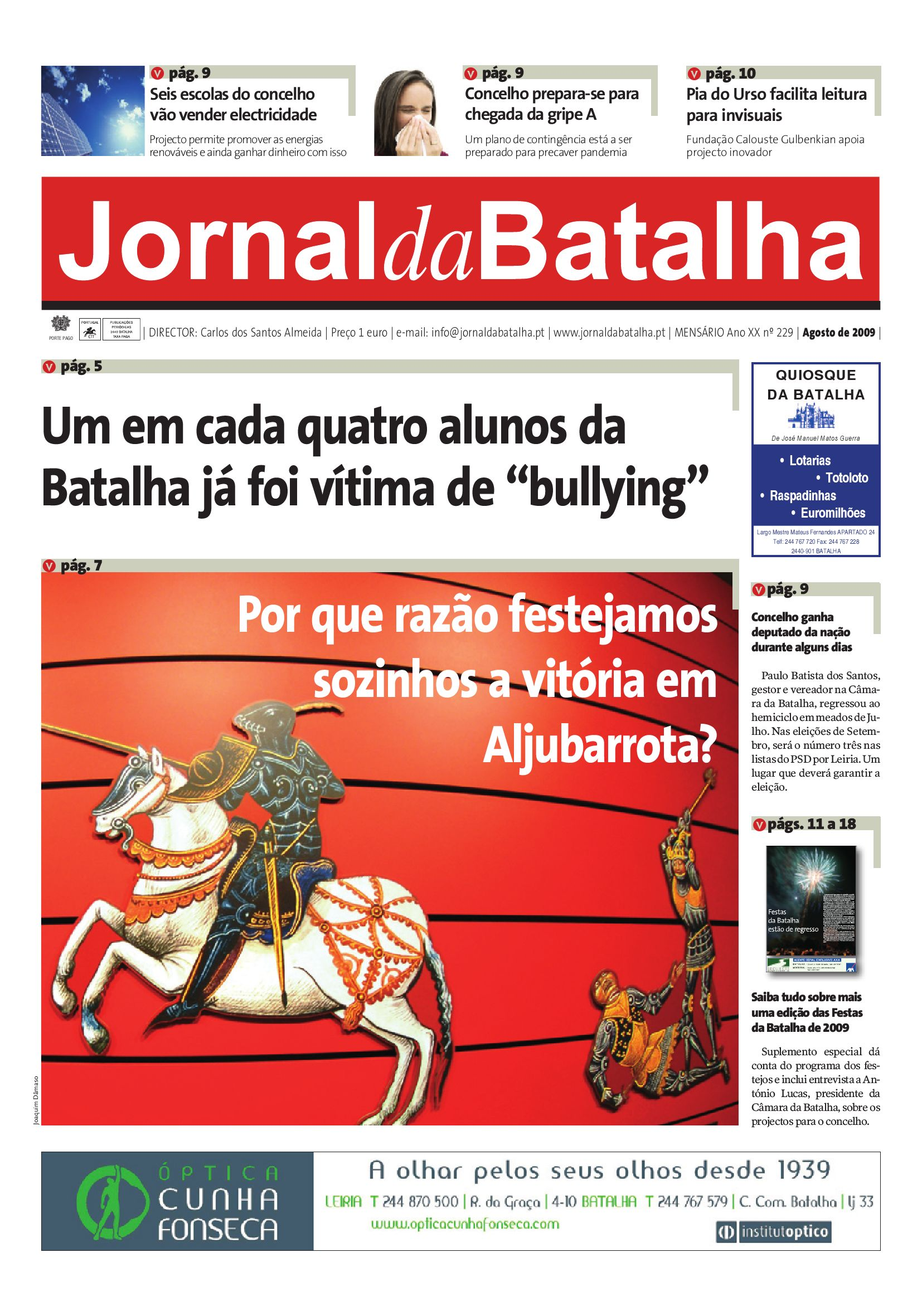 Jornal da Batalha Agosto de 2009 by Jornal Batalha - issuu 3a5b4f0c4da97