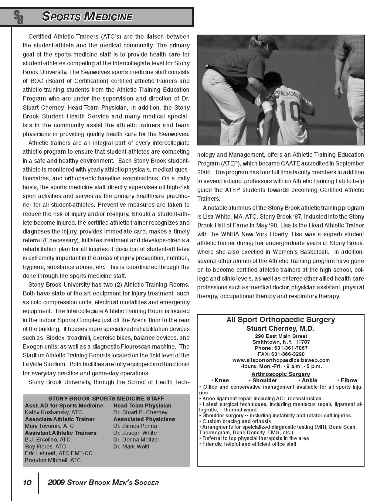 2009 Stony Brook Men's Soccer Media Guide by Stony Brook