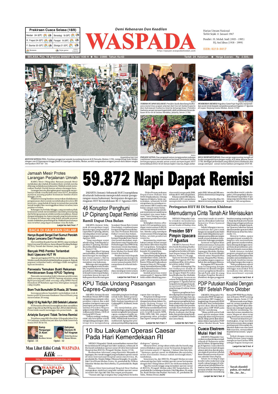 Waspada Selasa 18 Agustus 2009 By Harian Waspada Issuu