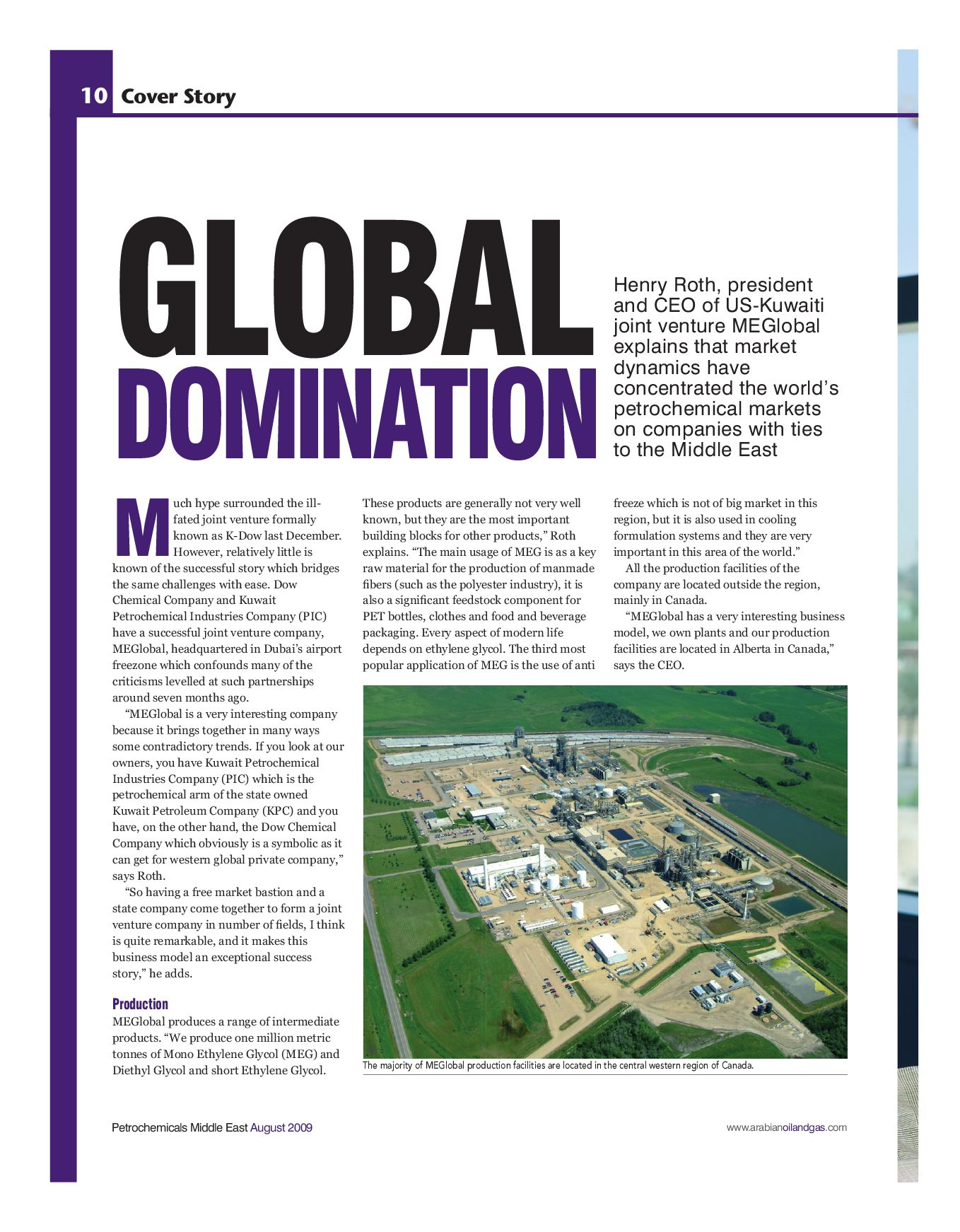 Petrochemicals Middle East by ITP Business Publishing - issuu