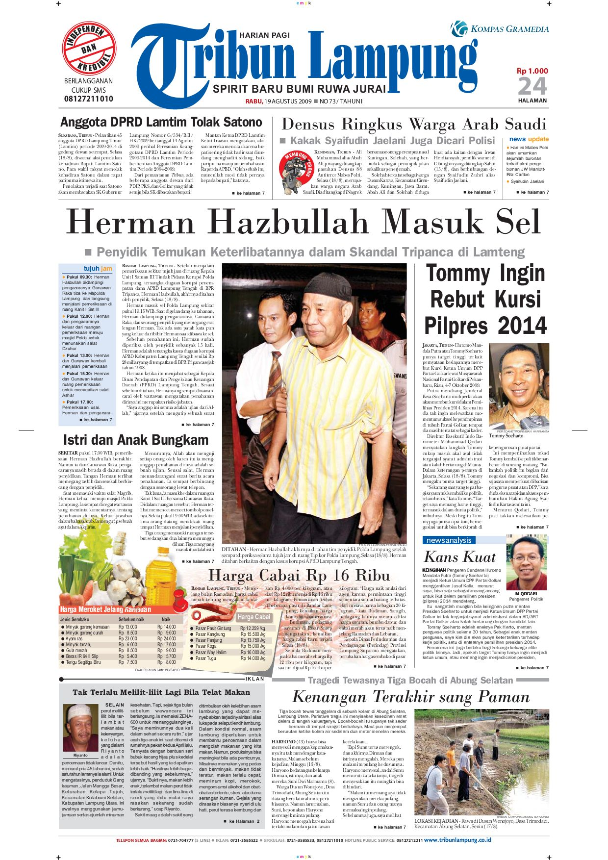 Tribun Lampung 19 Agustus 2009 By Issuu Parcel Makanan Pja 1606