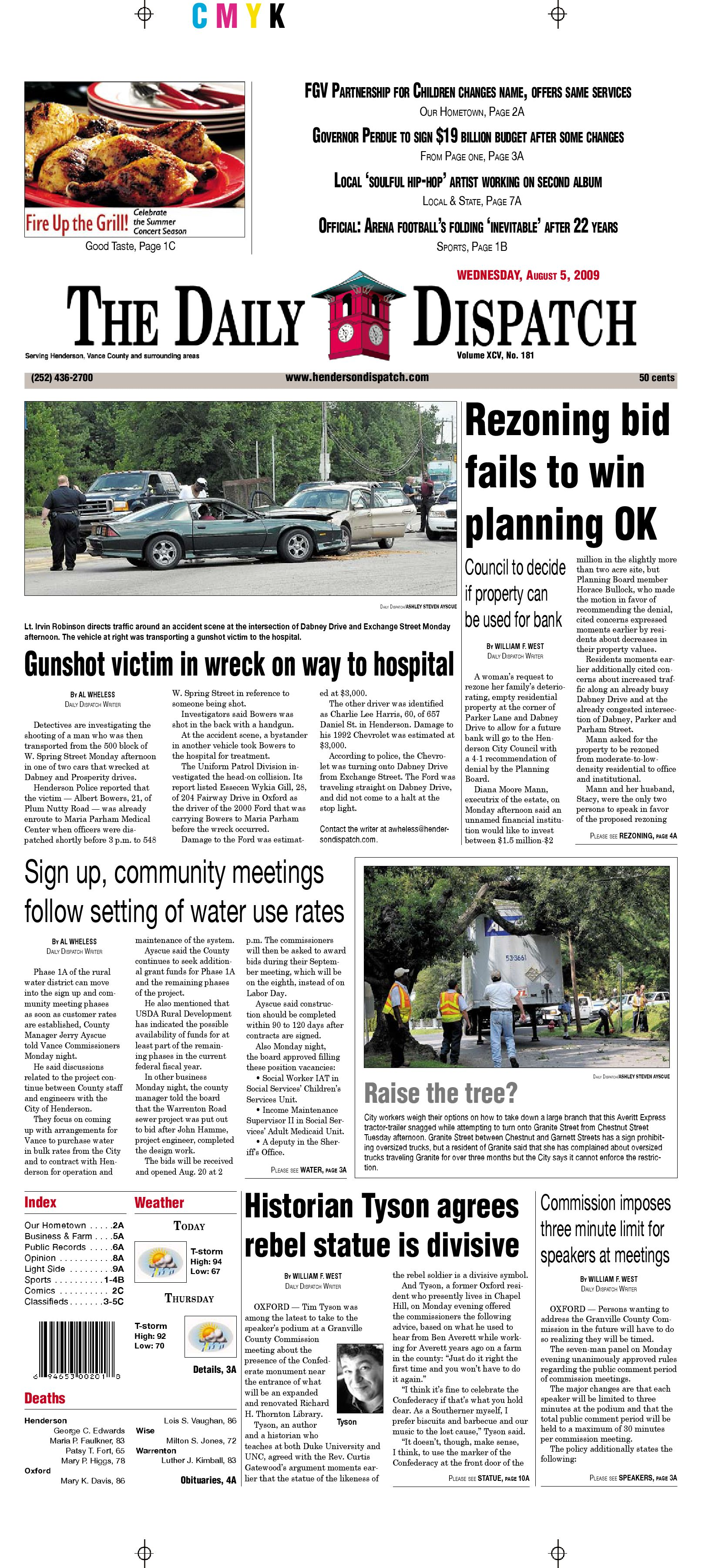 The Daily Dispatch Wednesday August 5 2009 by The Daily Dispatch