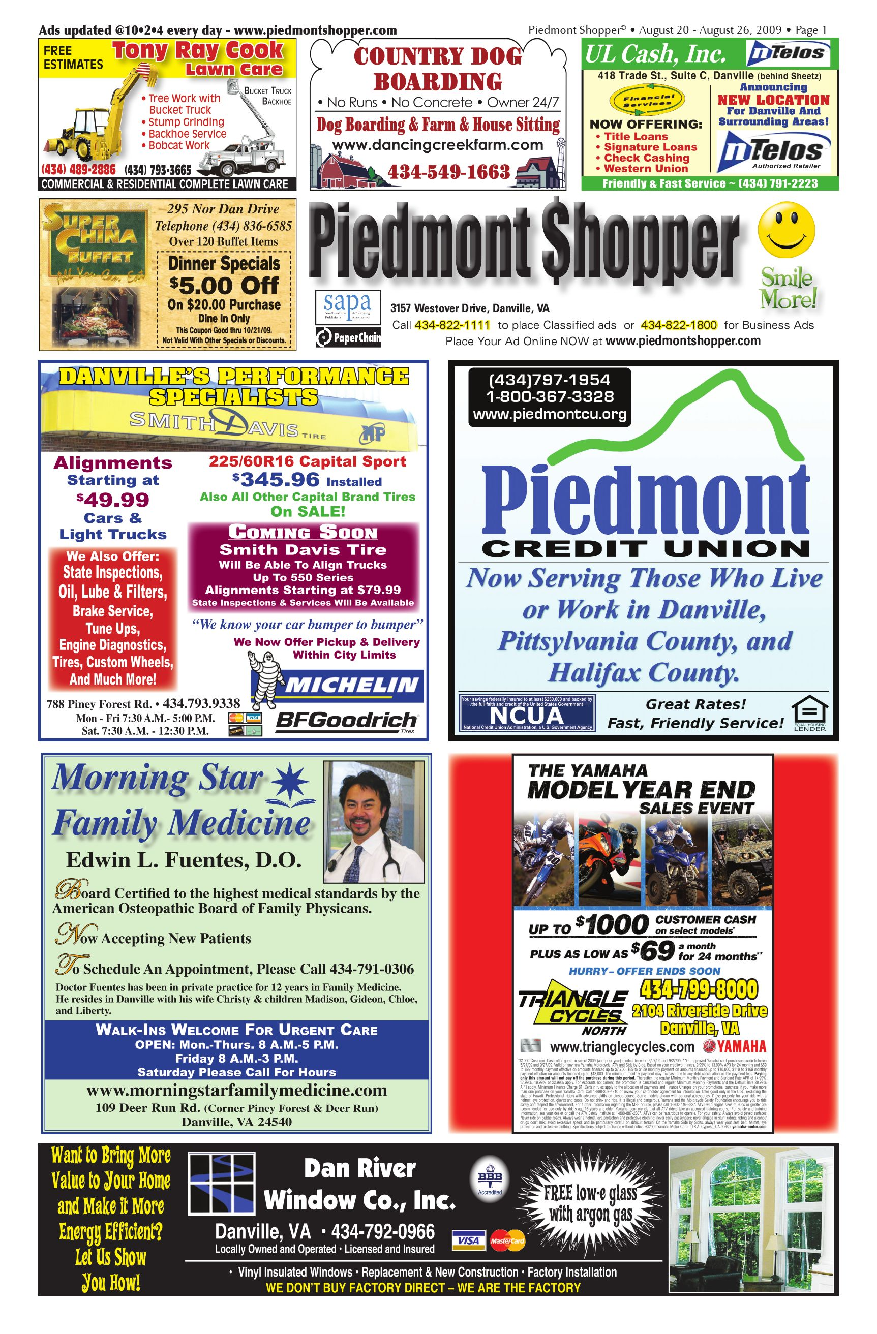 9fe9feda4915 PIedmont Shopper 8.20.09 by ALAN LINGERFELT - issuu