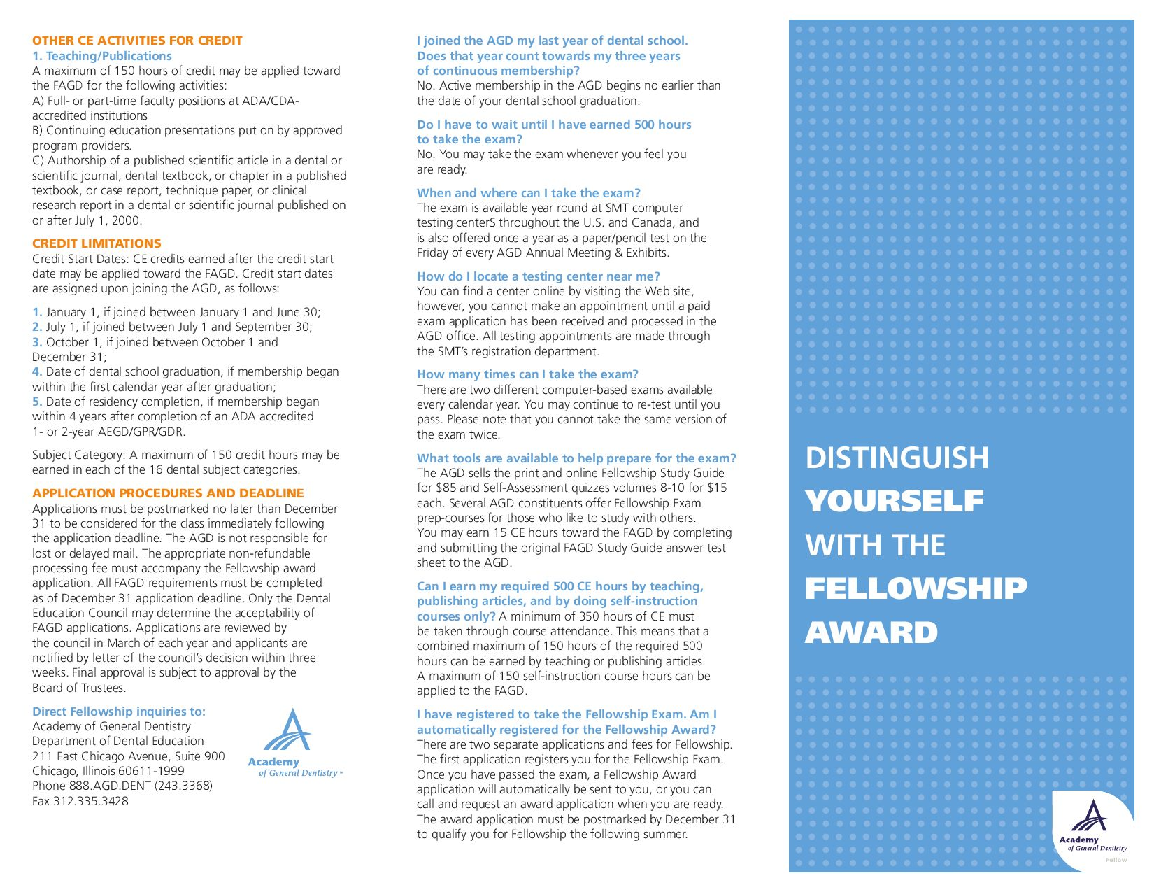 Fellowship in the Academy of General Dentistry by AGD AGD - issuu