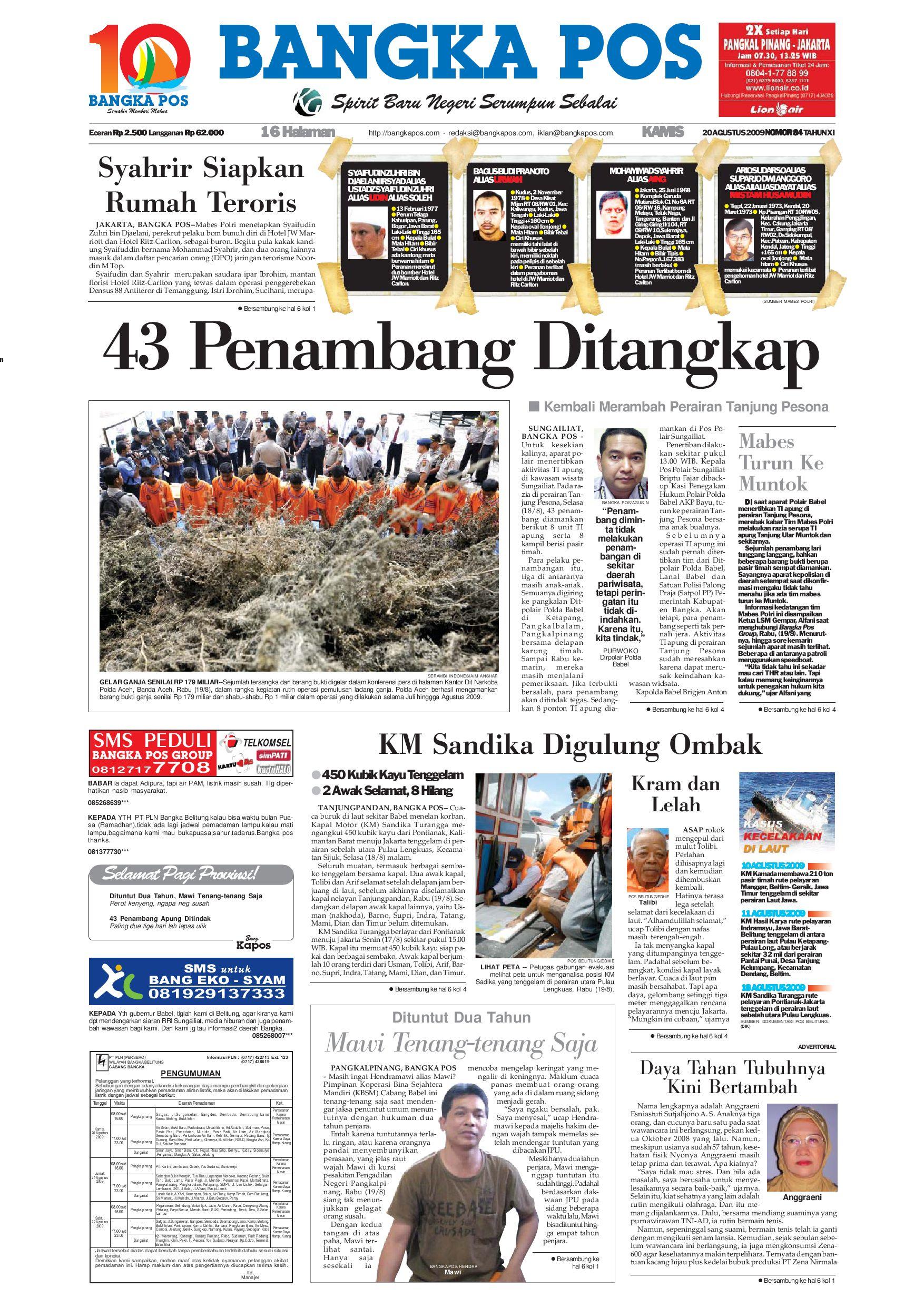 Harian Pagi Bangka Pos Edisi 20 Agustus 2009 by bangka pos - issuu 1e045b2495