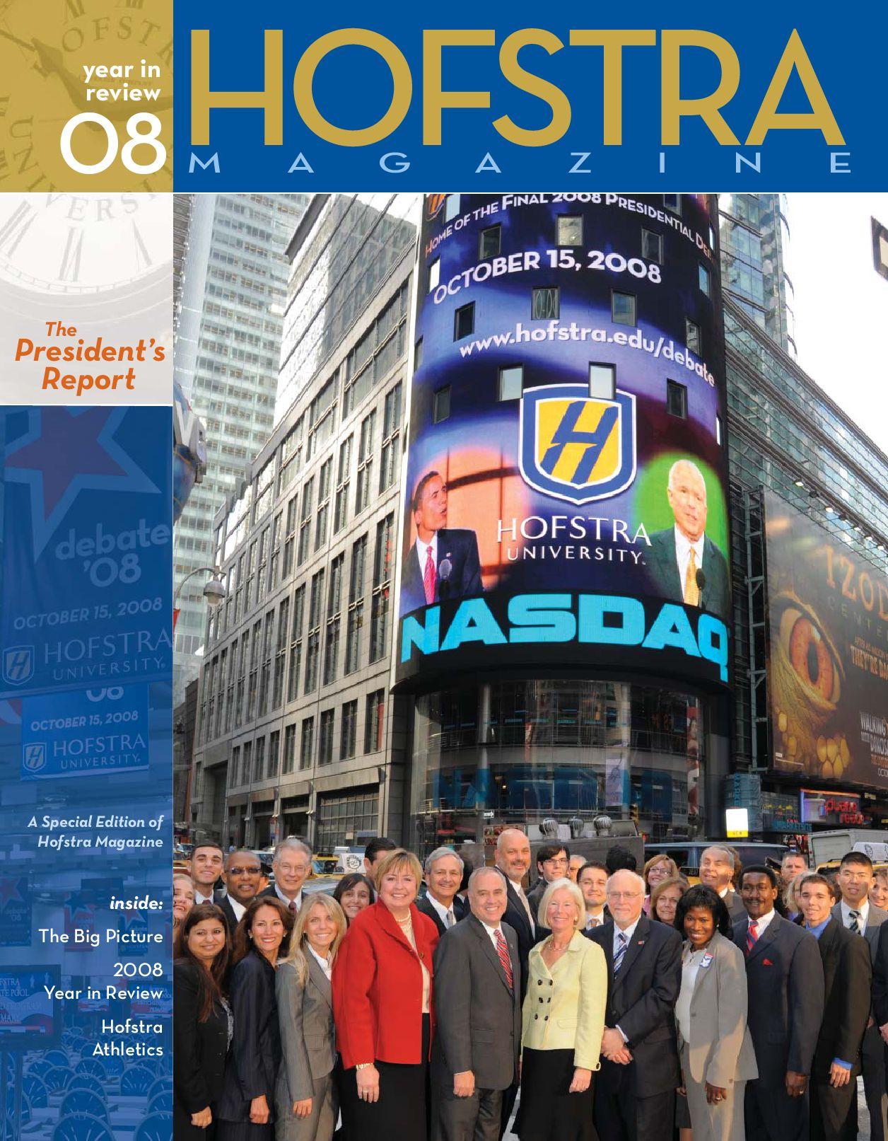 4072af0ad8fcc Hofstra Magazine  President s Report 2009 by Hofstra University - issuu