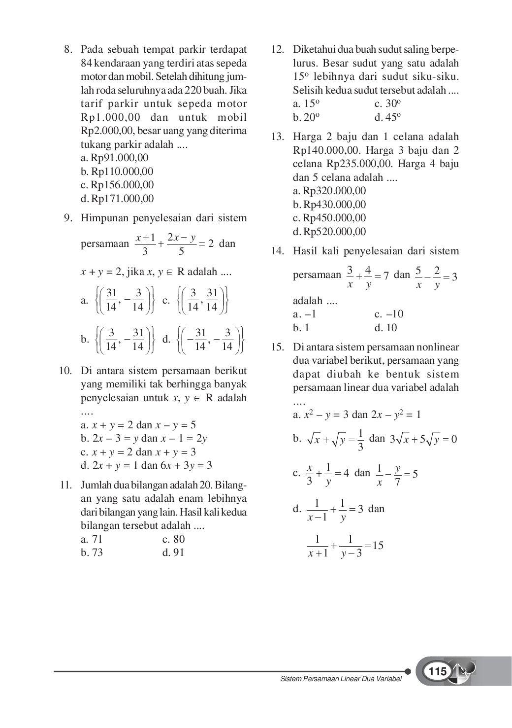 Kelas08 Matematika Konsep Dan Aplikasinya Dewi Tri By S Van Selagan