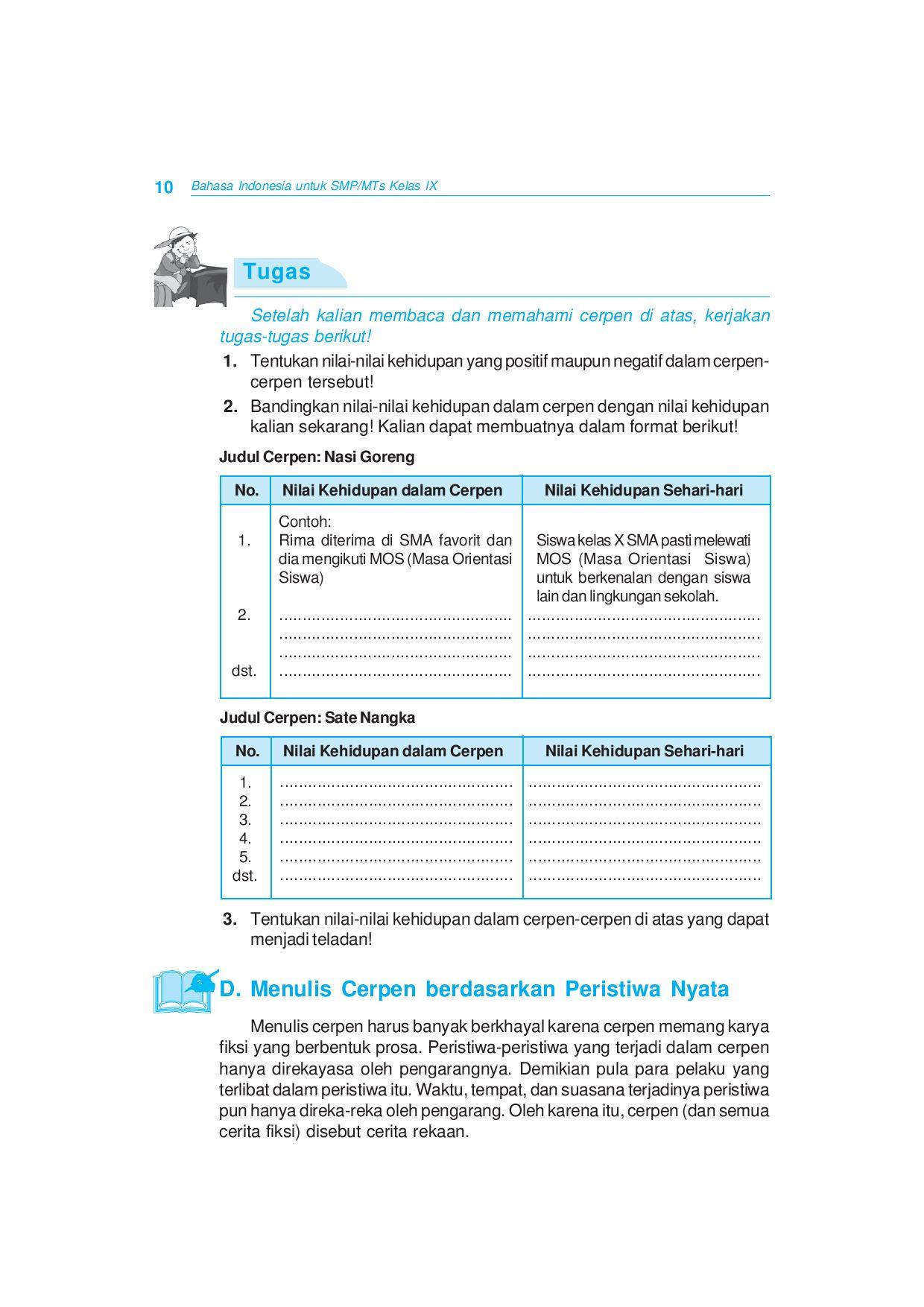 Kelas09 Bahasa Indonesia Atikah Yuwono Suhartanto By S Van Selagan